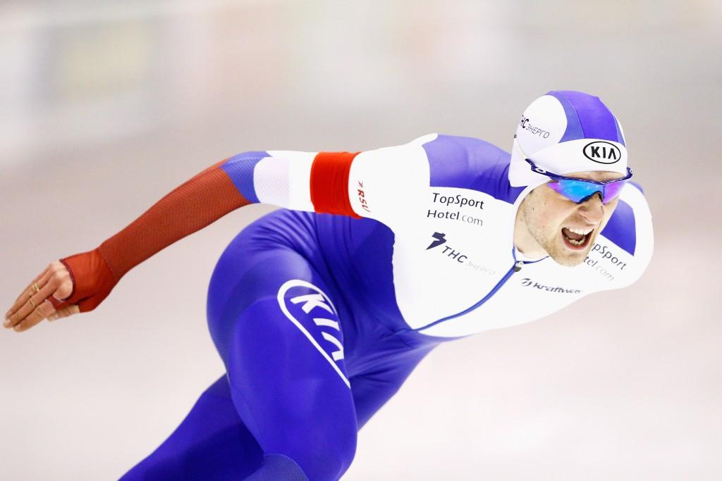 Russia's Denis Yuskov won gold in the men's 1,500m event
