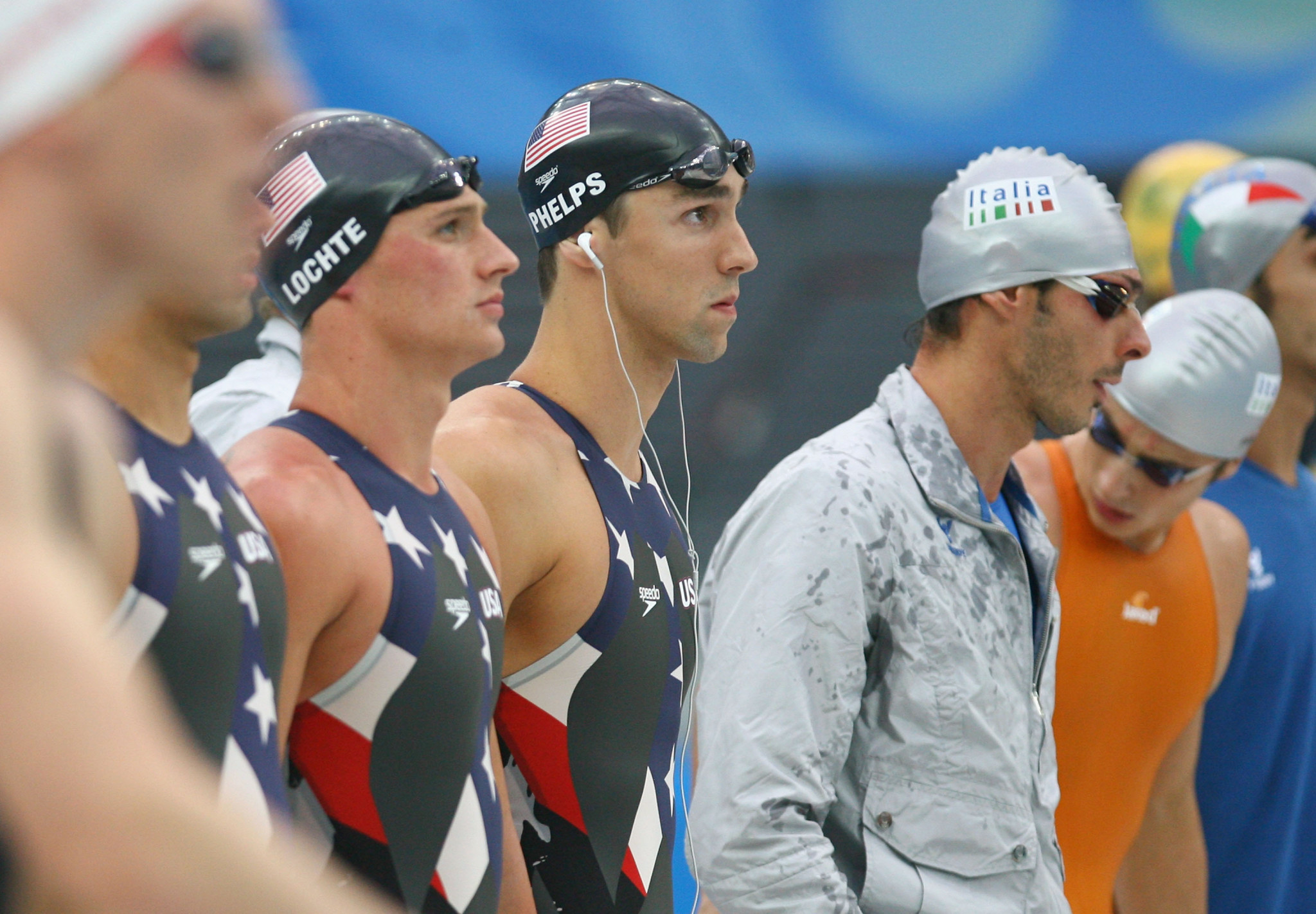 Michael Phelps was the poster boy for the full body Speedo swimsuits widely used at the Beijing 2008 Olympics, which were banned by the International Swimming Federation in 2010 ©Getty Images