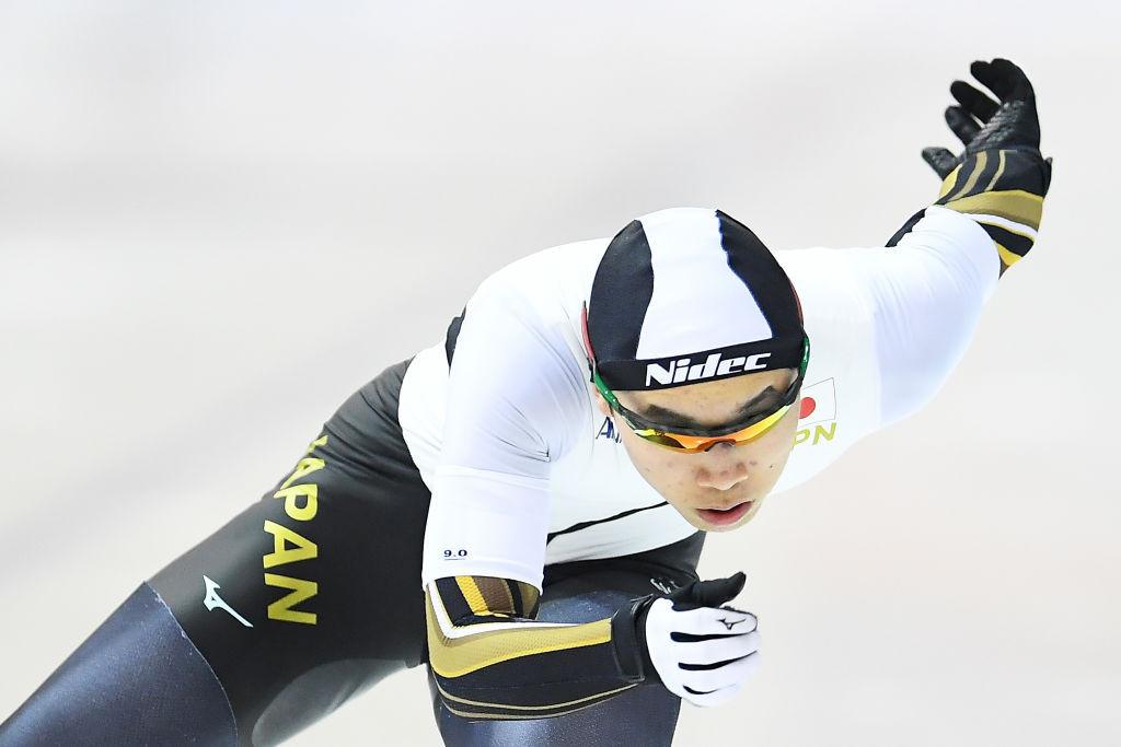 Japan's Kouki Kubo won a tight men's 1,000m gold medal ©ISU