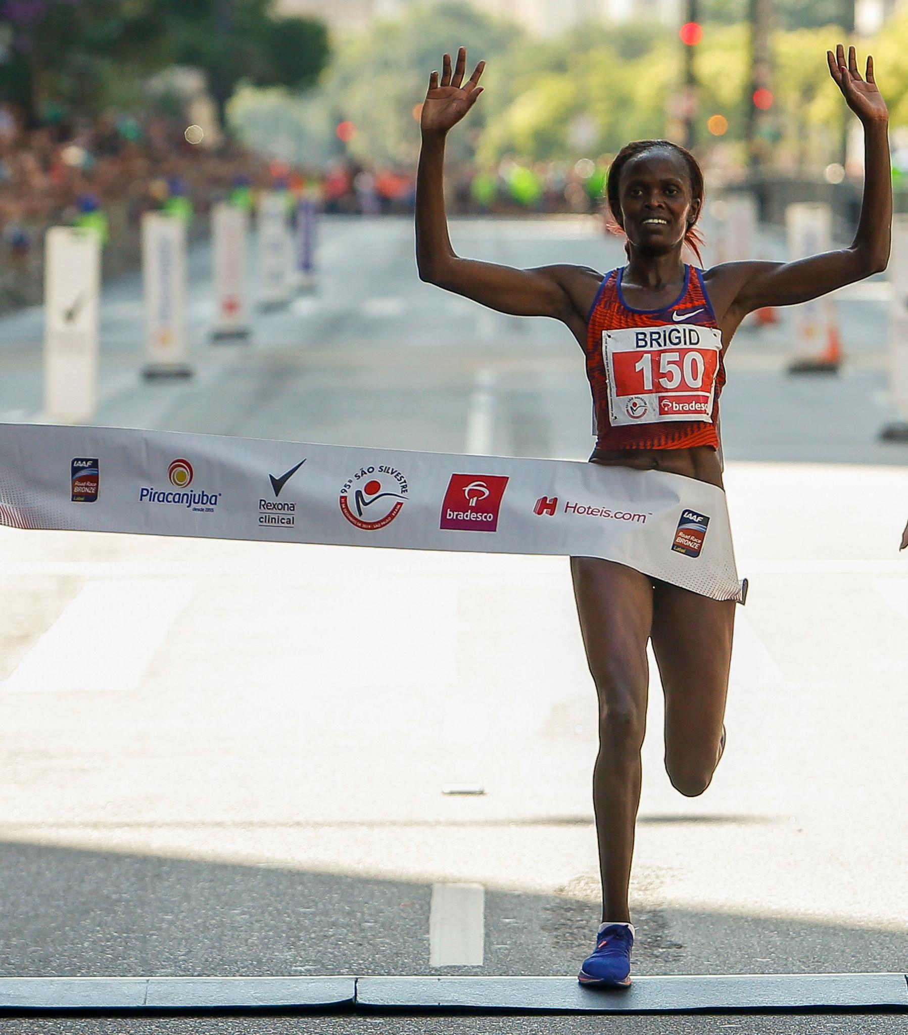 Women's marathon world record holder Brigid Kosgei will also compete at Tokyo 2020 ©Getty Images