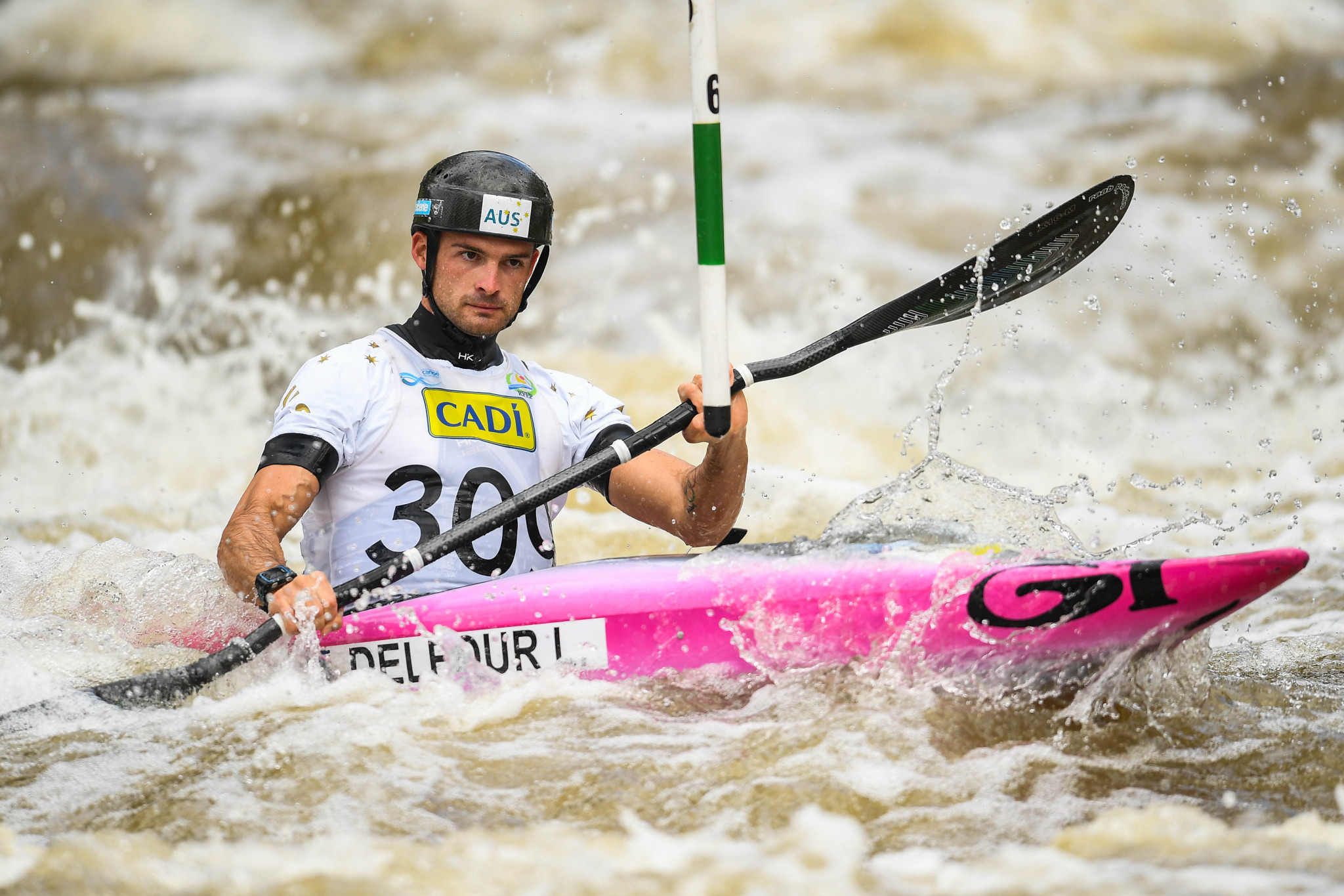Lucien Delfour won the men's K1 title on the final day ©Getty Images