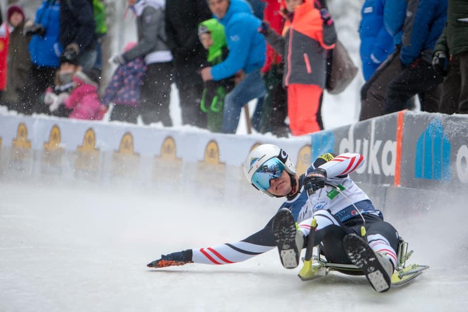 Fabian Achenrainer of Austria won two golds at the FIL Luge Junior World Championships ©FIL