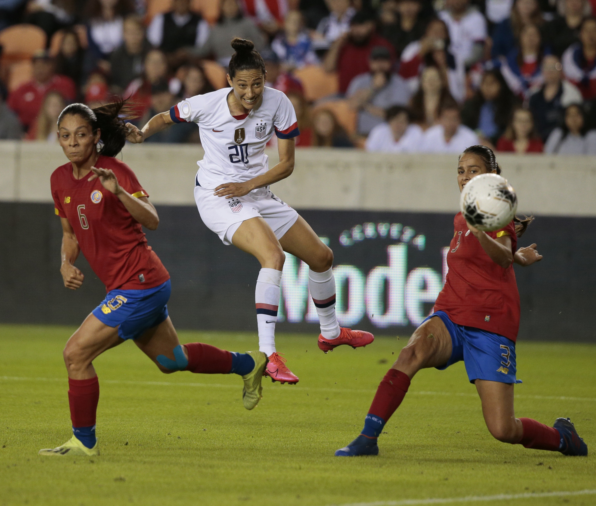 Christen Press scored twice for the US in their victory ©Getty Images