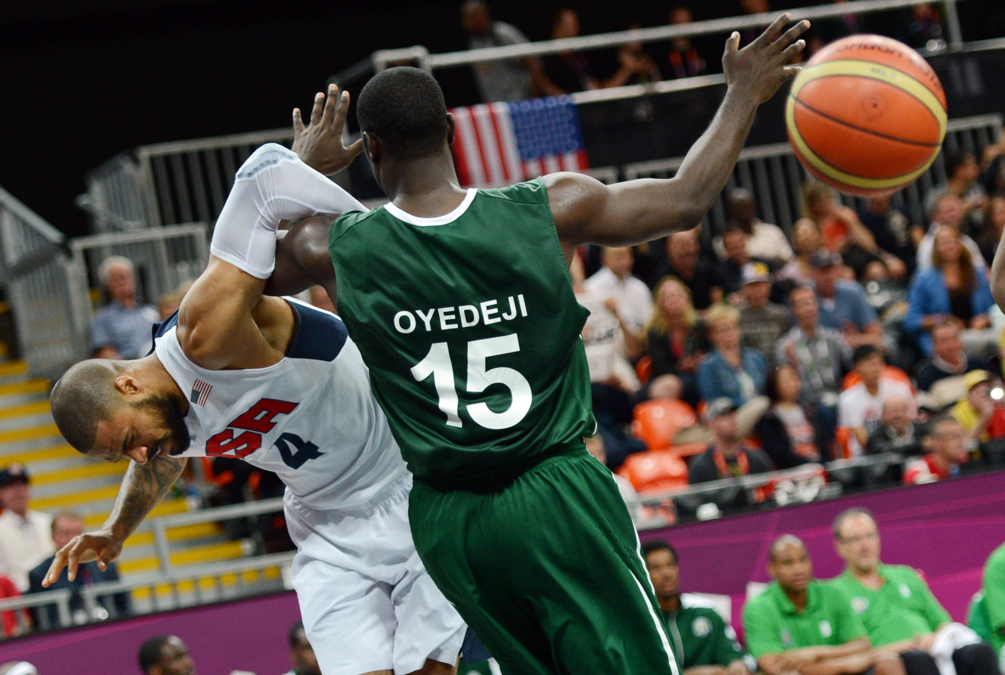 Nigeria's Olympic basketball player Olumide Oyedeji is the chairman of the Athletes' Commission ©Getty Images