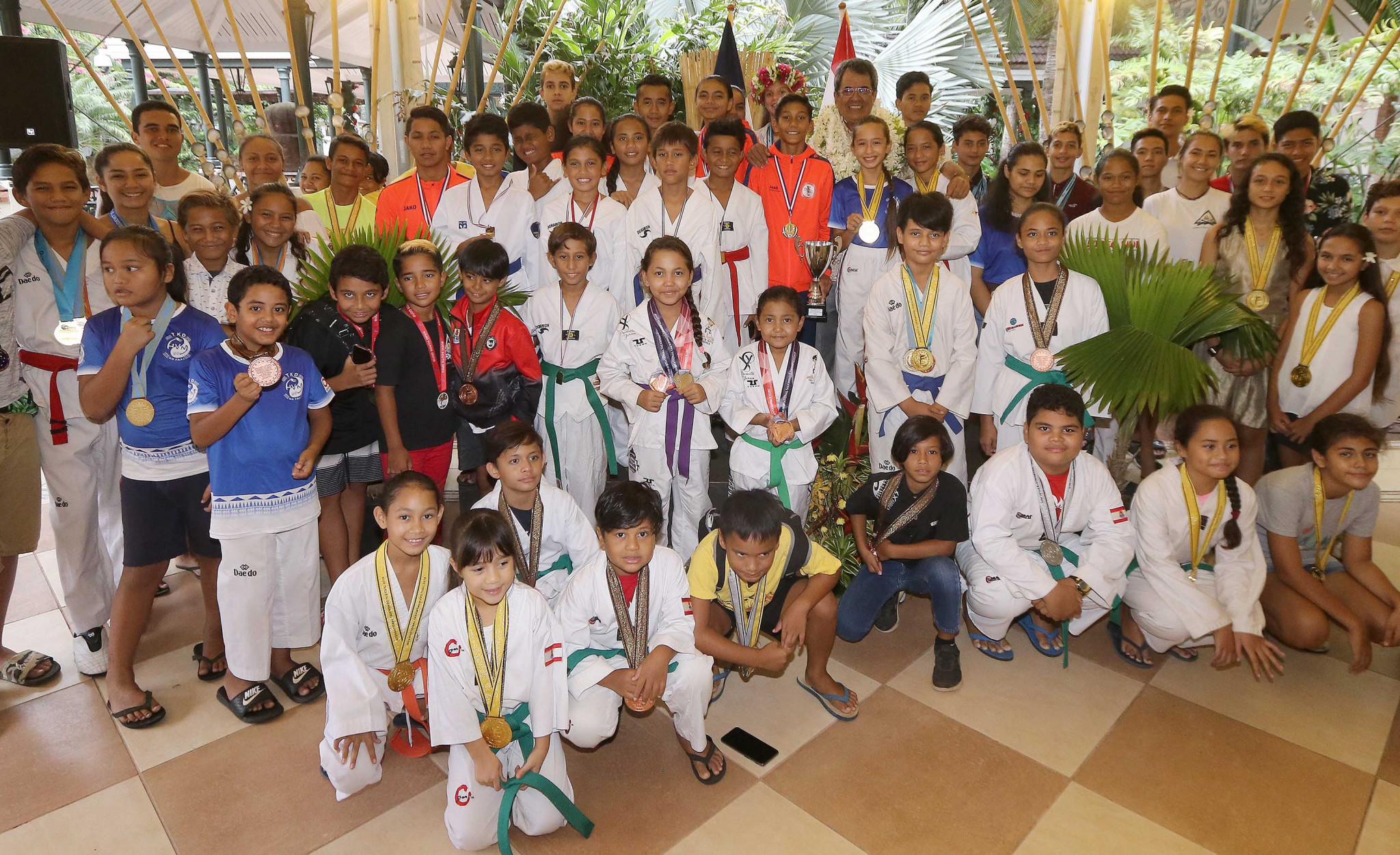 The group had competed at events around the world last year ©French Polynesia Government