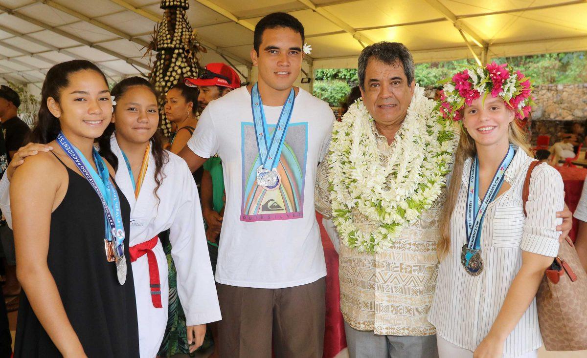 French Polynesia's President welcomes taekwondo group in Tahiti