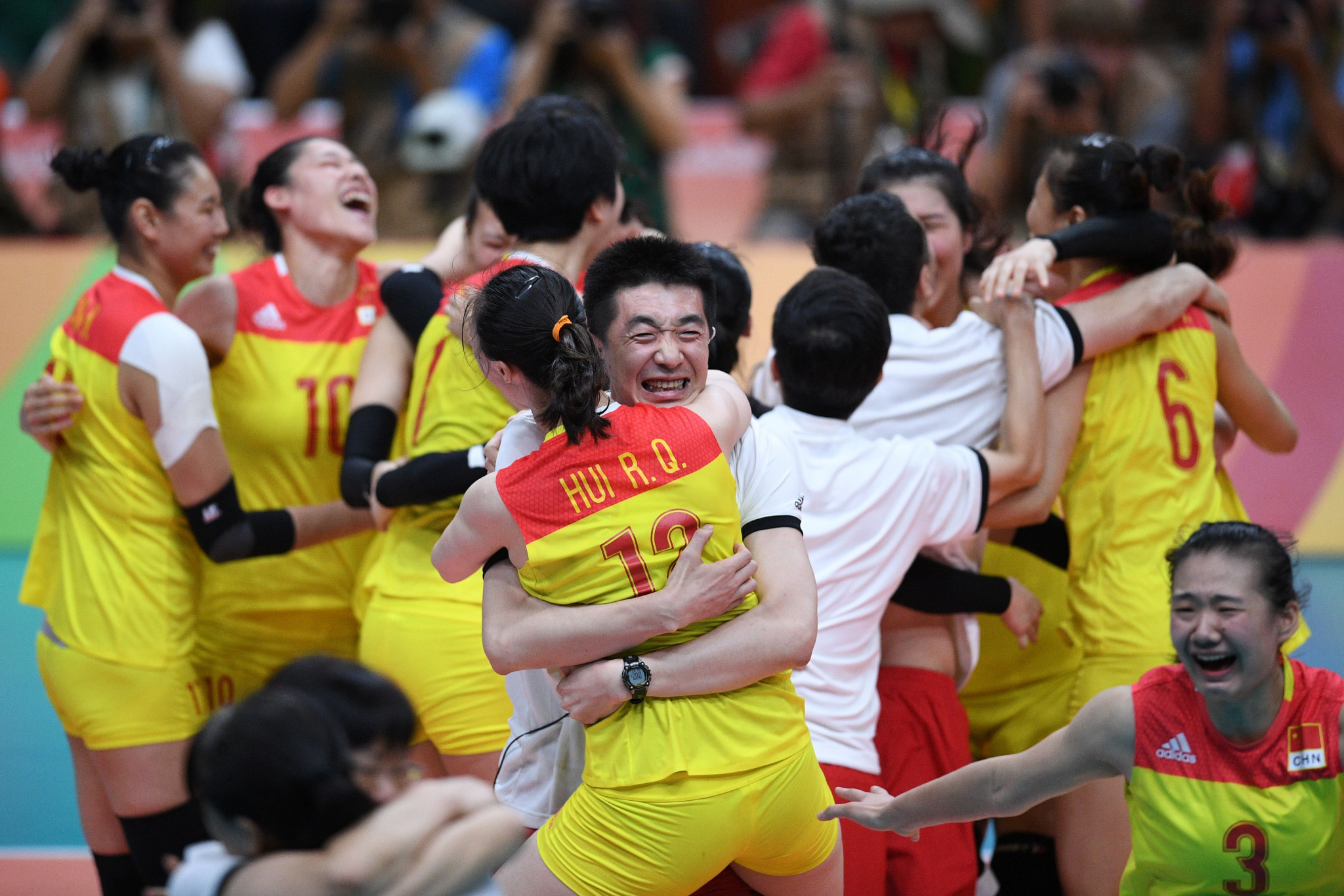 China won 26 gold medals at the Rio 2016 Olympic Games, including in women's volleyball ©Getty Images