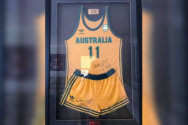 The uniform worn by Andrew Gaze at the 1984 Olympic Games in Los Angeles is being auctioned to help victims of the Australian bushfires ©Lloyds Auctions Bushfire Relief Auction