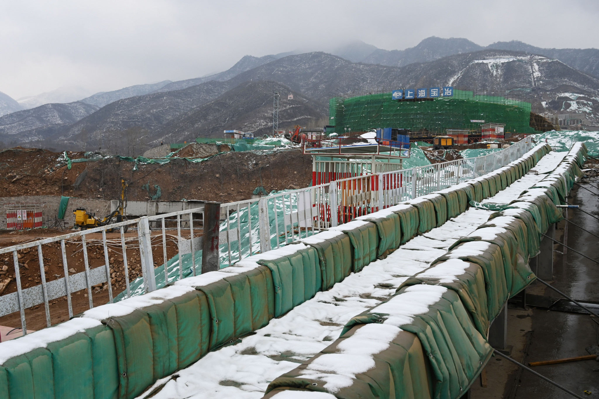 The National Sliding Center was constructed in Yanqing and is ready to be certified ©Getty Images