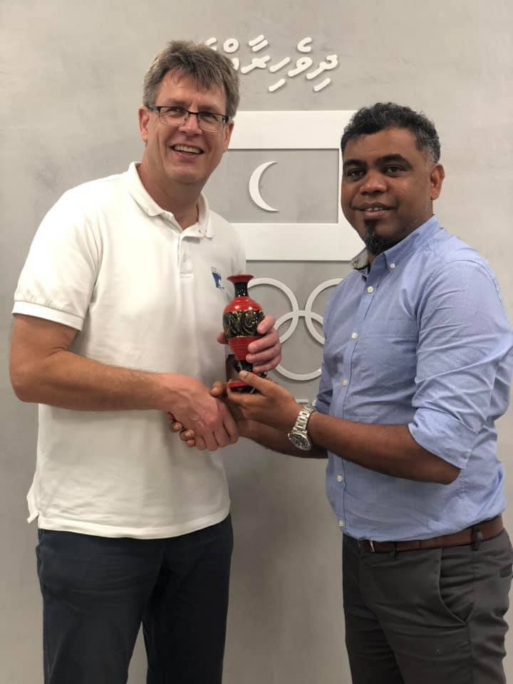 ITTF President becomes first head of International Federation to visit Maldives Olympic Committee