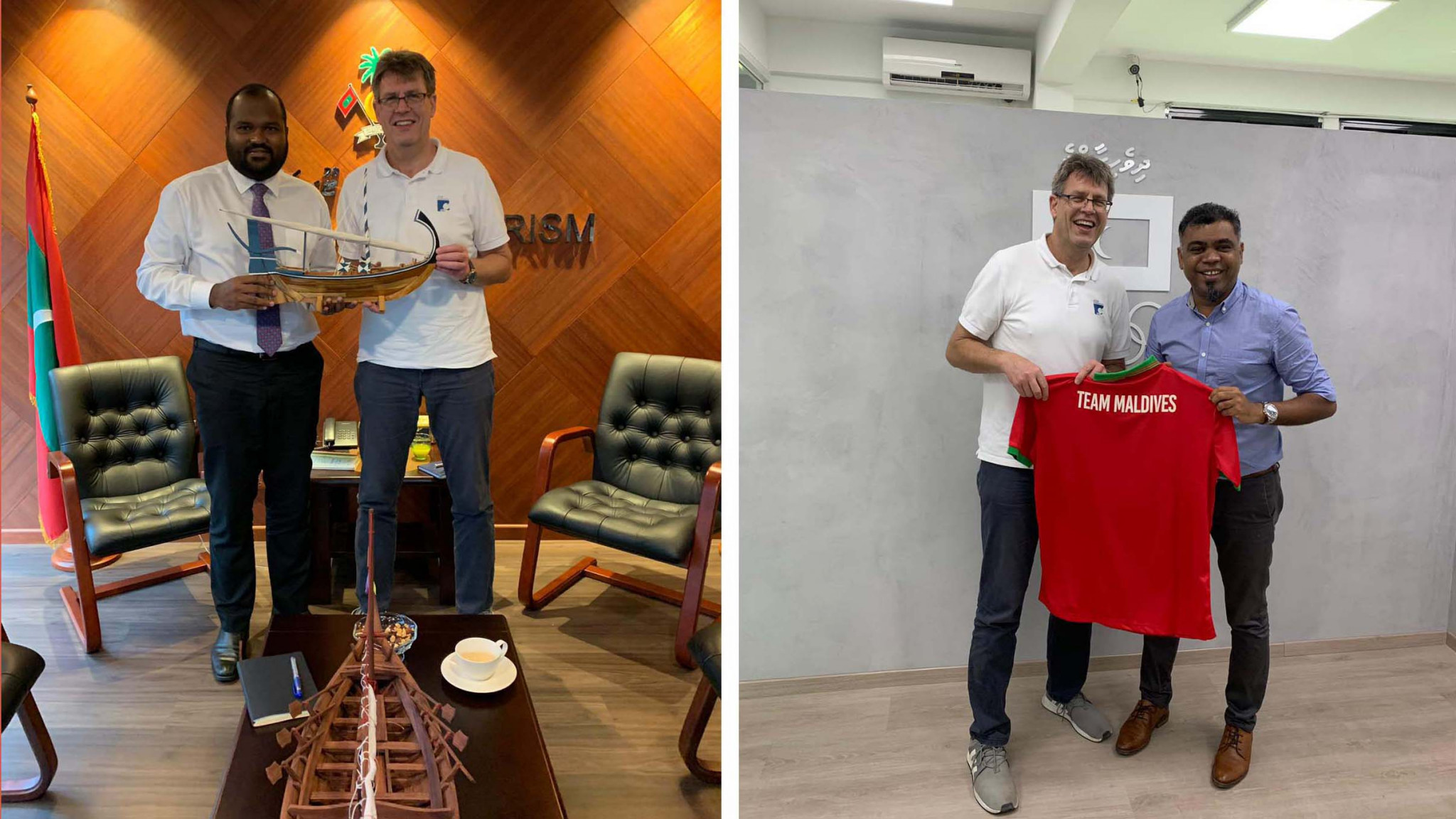Thomas Weikert is the first President of an International Federation to visit the Maldives Olympic Committee ©ITTF
