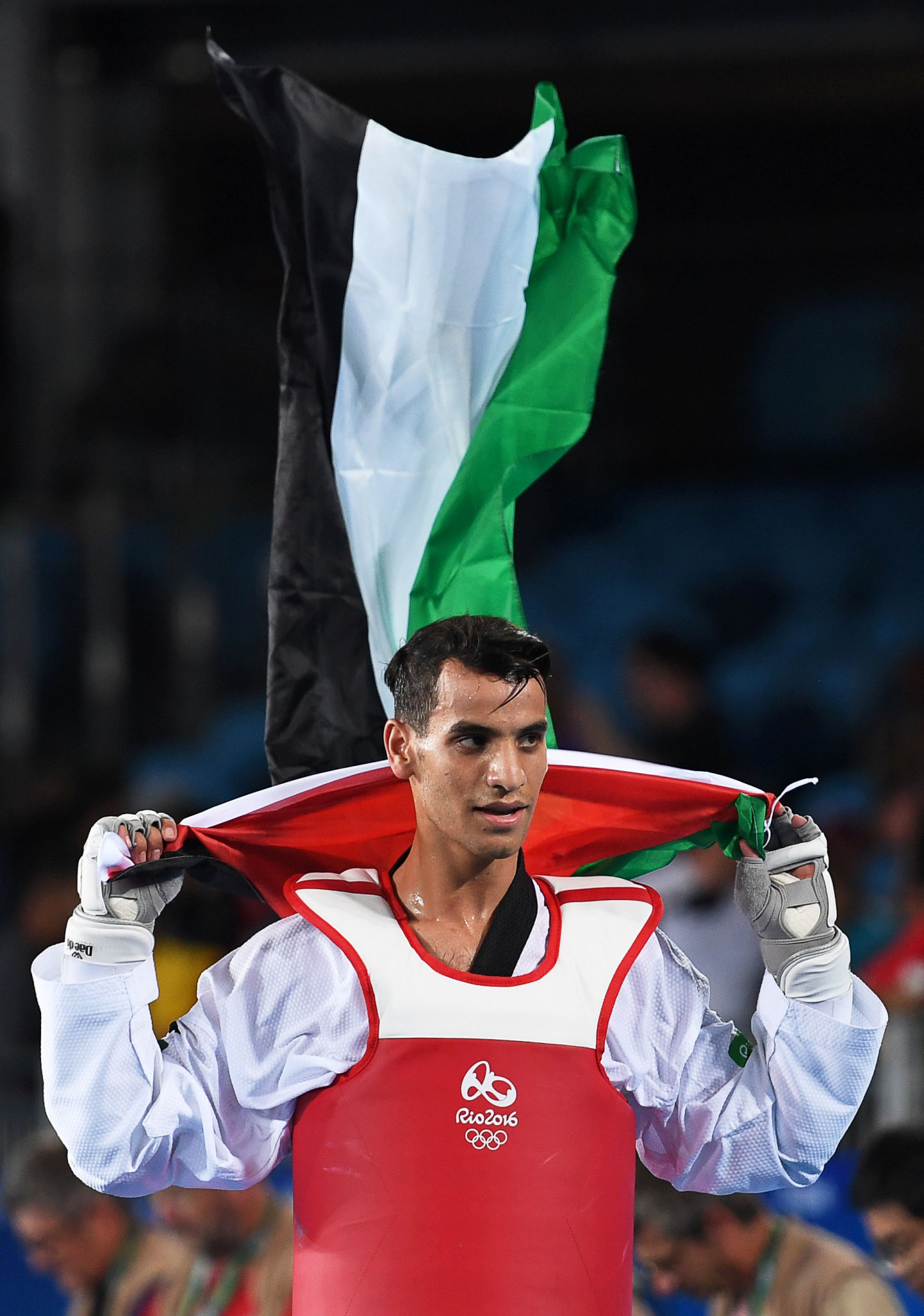 Ahmad Abughaush won Jordan's first Olympic gold medal at Rio 2016 ©Getty Images