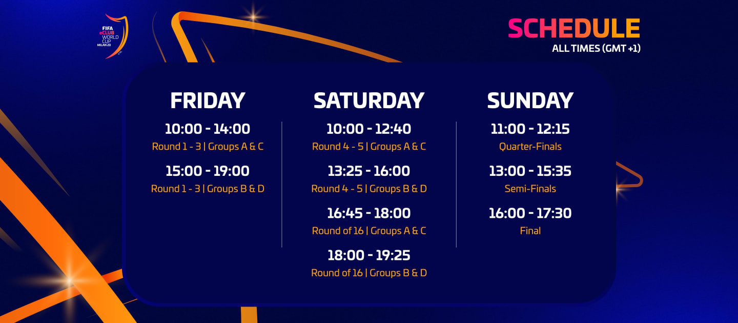 The schedule for this weekend's FIFA eClub World Cup finals ©FIFA