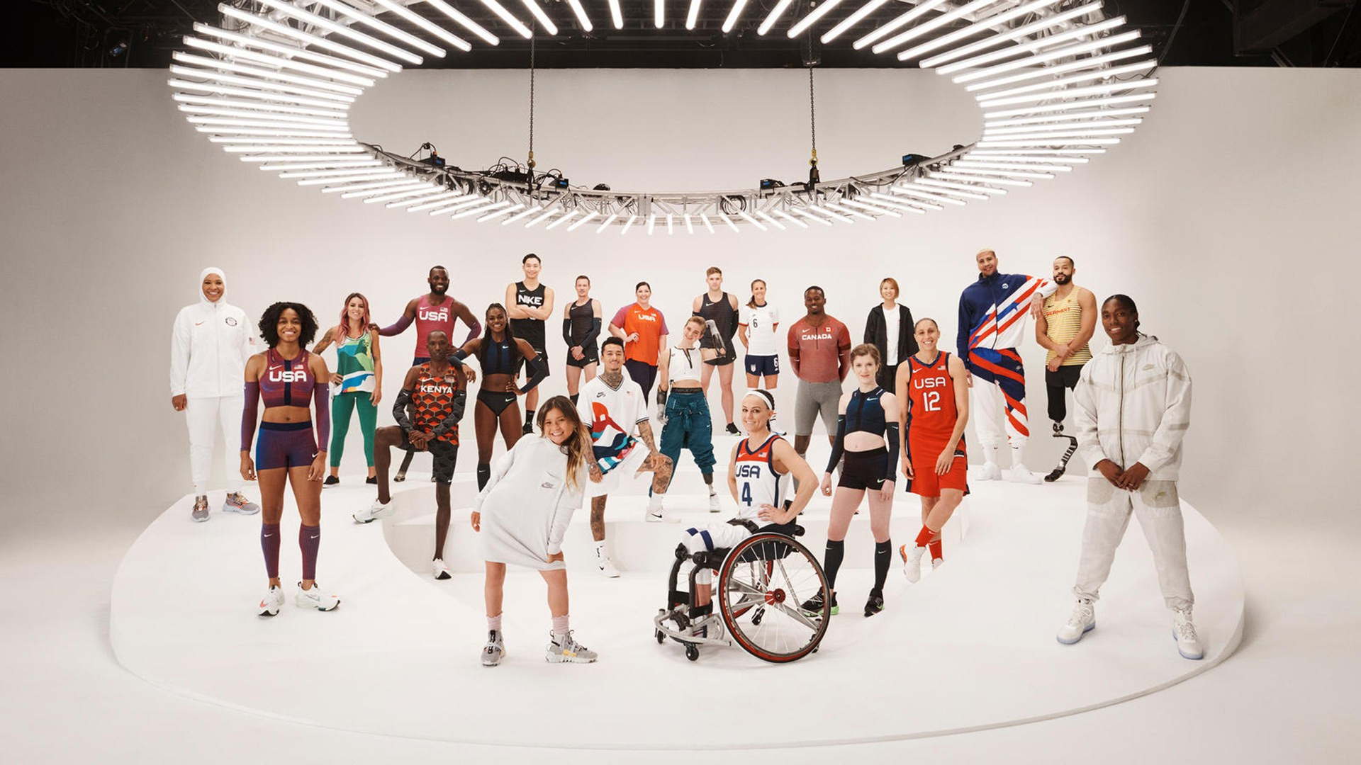 Nike unveiled its Tokyo 2020 uniforms for a range of sports ©Nike