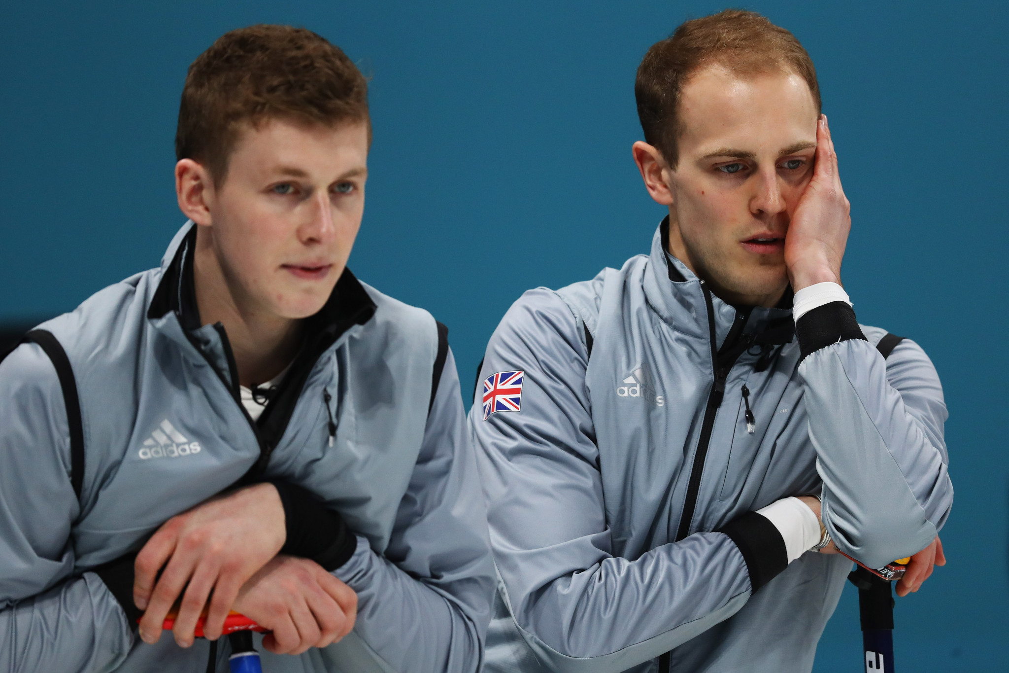 Thomas Muirhead, left, and Kyle Smith, right, competed at Pyeongchang 2018 with Smith as skip, but will now play second and third for Thomas' older brother Glen, at the Scottish Championships ©Getty Images