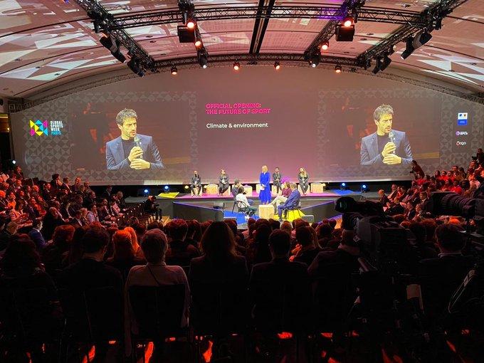 Paris 2024 President Tony Estanguet spoke about the organisations commitment to sustainability ©Global Sports Week Paris