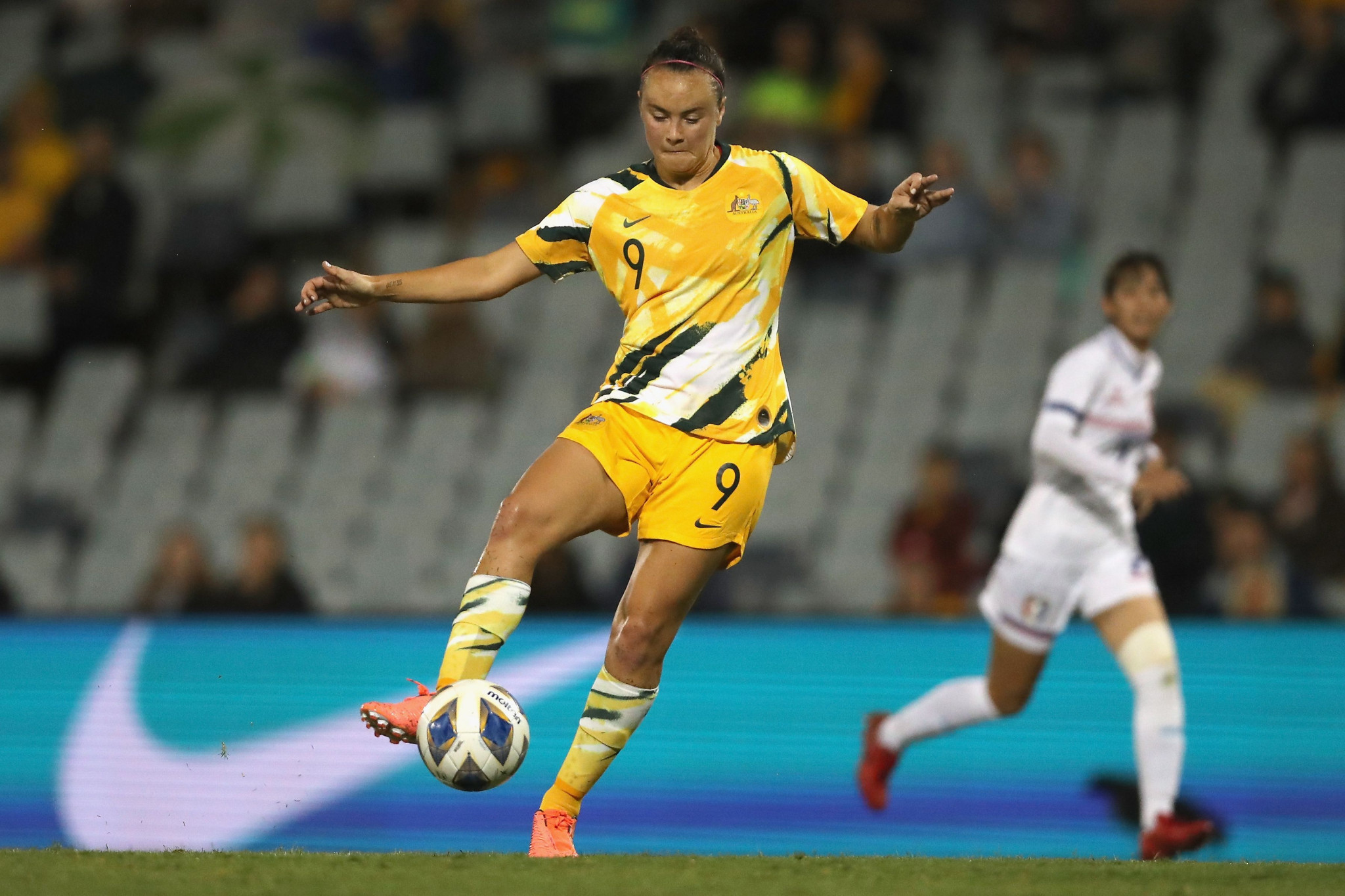 Caitlin Foord scored a hat-trick in Australia's 7-0 victory over Chinese Taipei ©Getty Images