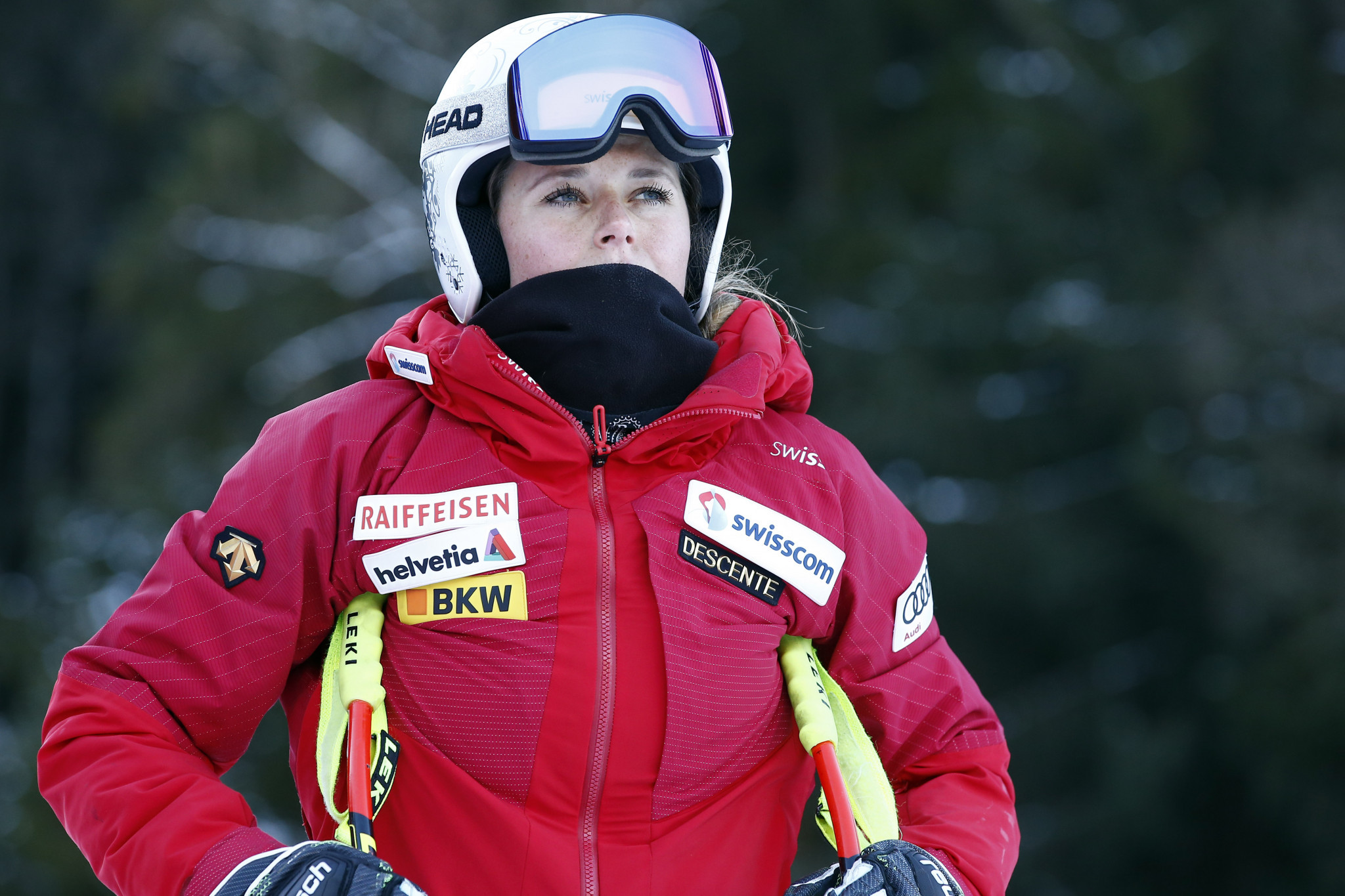 Suter set to extend World Cup downhill lead in Shiffrin's absence