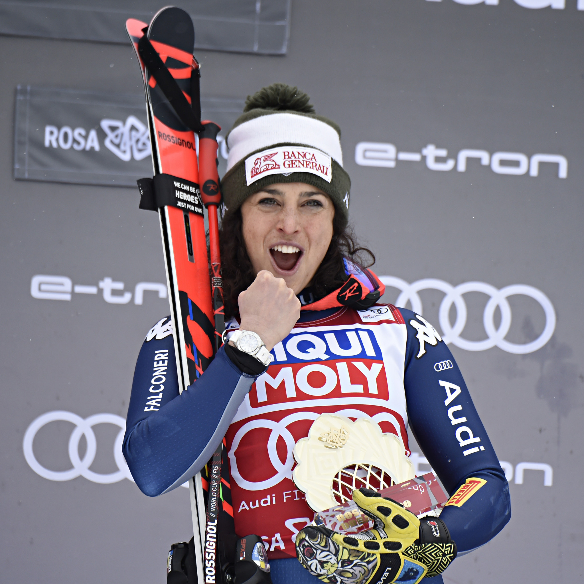Federica Brignone was unstoppable in Russia and will look to win two super-G races on the bounce in Germany ©Getty Images