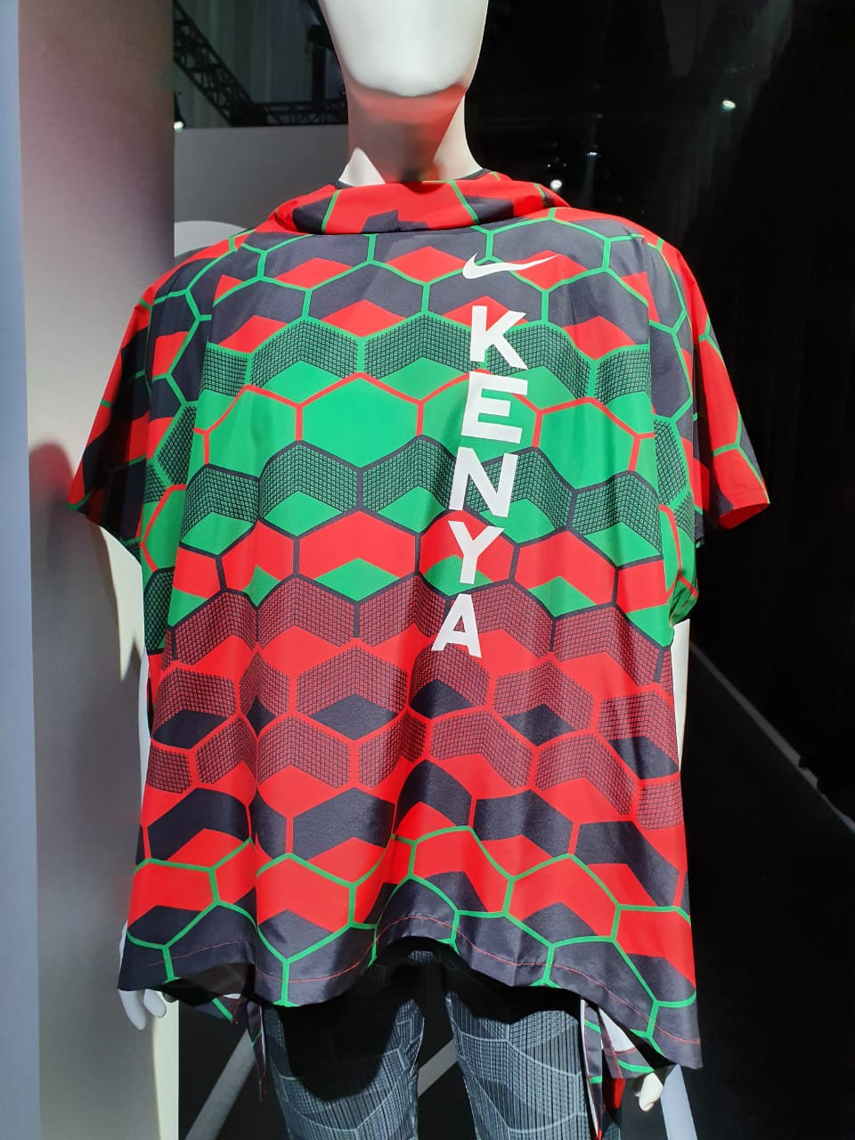 Part of Kenya's Olympic kit, pictured above, has received mixed reviews from the public ©Getty Images
