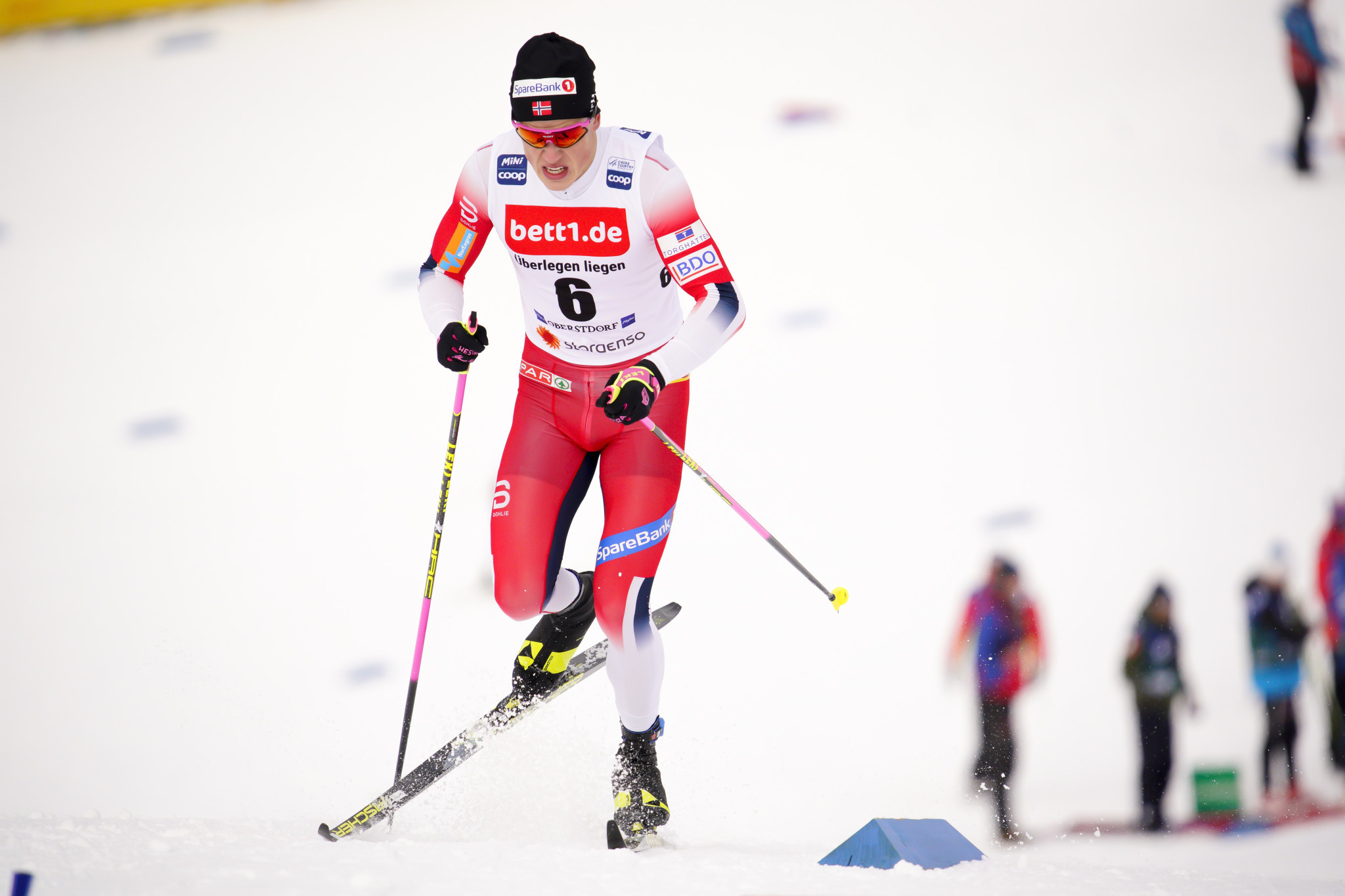 Johannes Høsflot Klæbo of Norway is considered the favourite in the men's sprint race at the FIS Cross-Country World Cup ©Getty Images