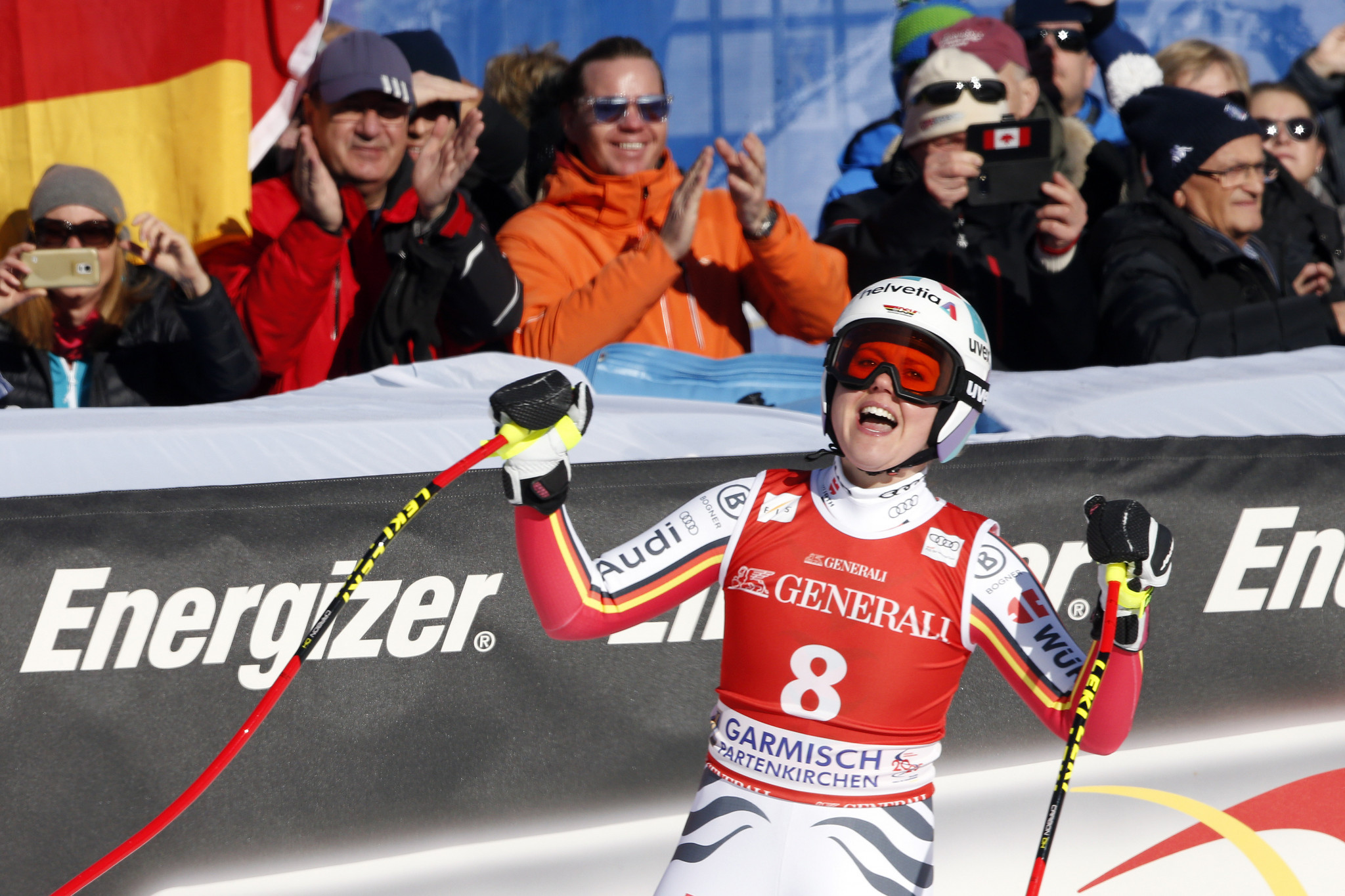 Rebensburg wins first FIS Alpine Ski World Cup downhill event on home turf