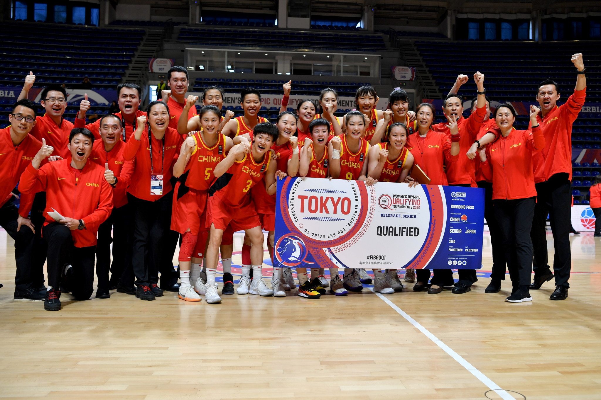 China seal Tokyo 2020 women's basketball berth at relocated qualifier in Belgrade