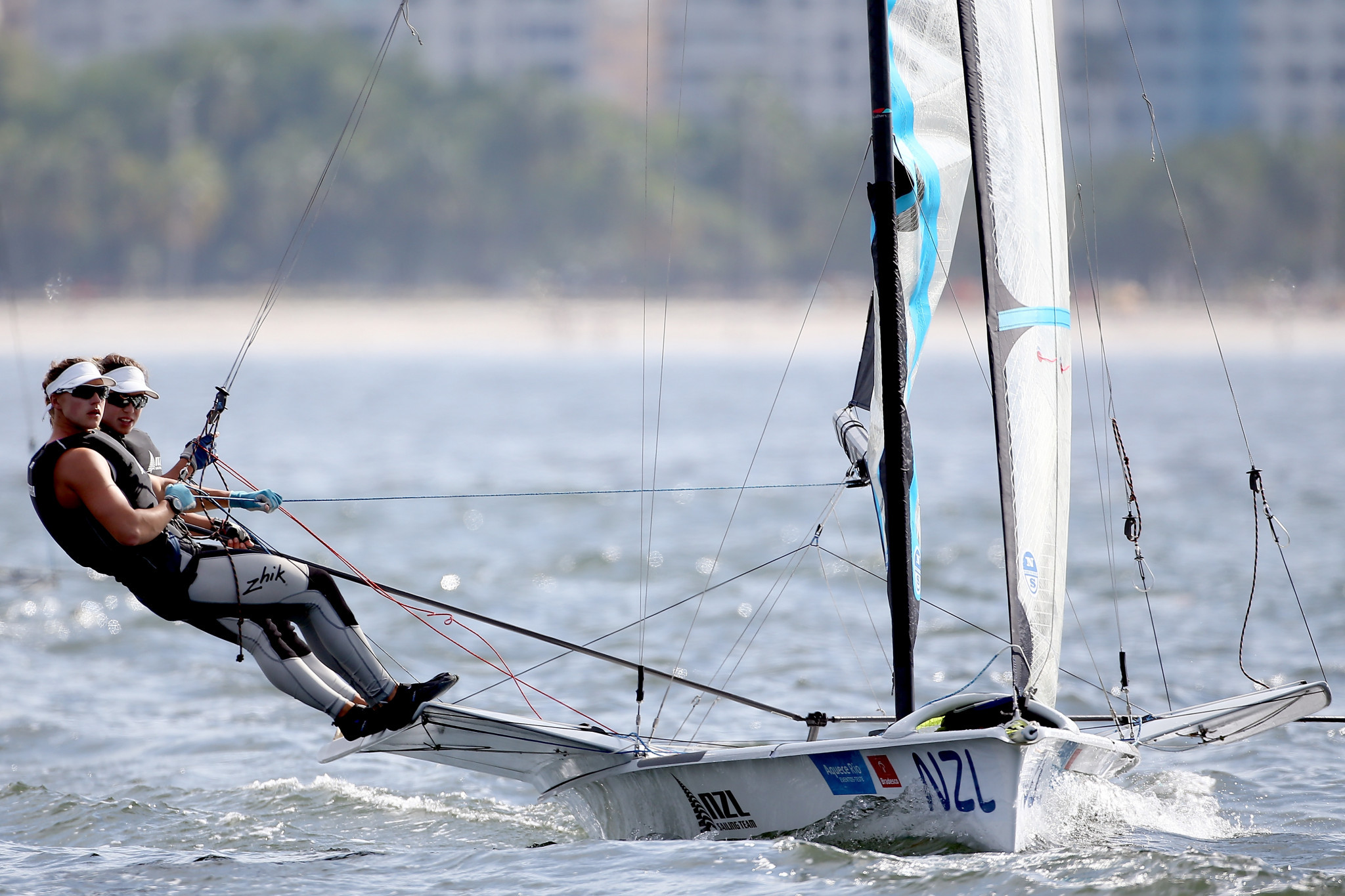 Olympic silver medallists out of 49er, 49erFX and Nacra 17 World Championships with injury