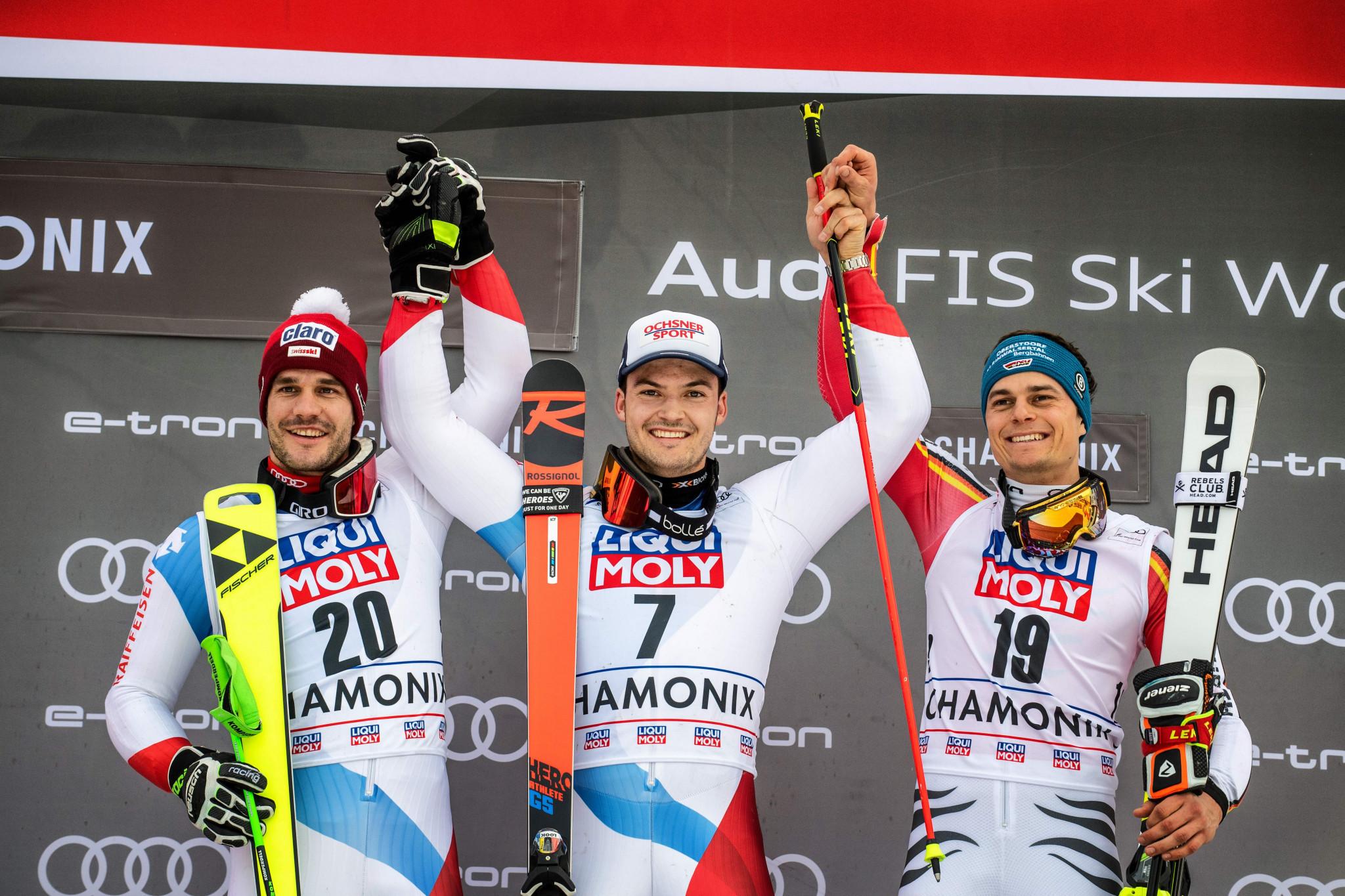 Meillard wins first FIS Alpine Ski World Cup event in Chamonix