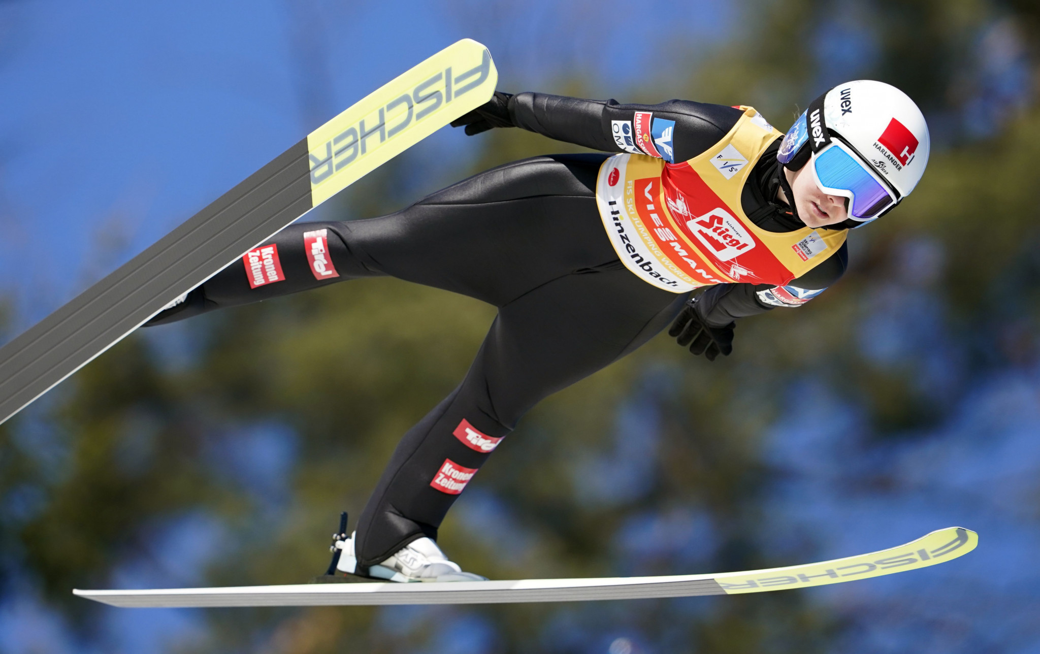 Chiara Hölzl continued her winning streak at the FIS Ski Jumping World Cup event in Hinzenbach ©Getty Images