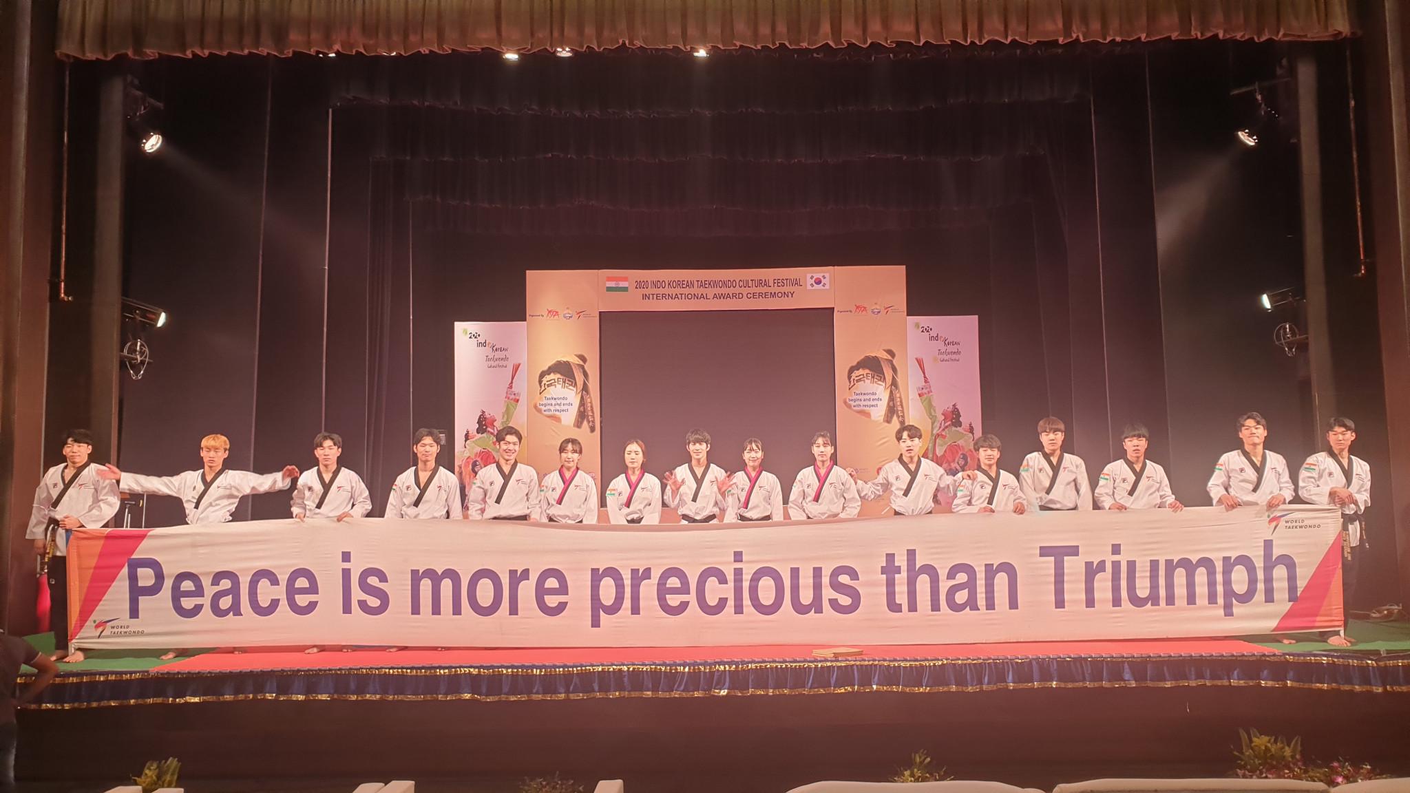 The World Taekwondo demonstration team performed in India for the first time ©World Taekwondo