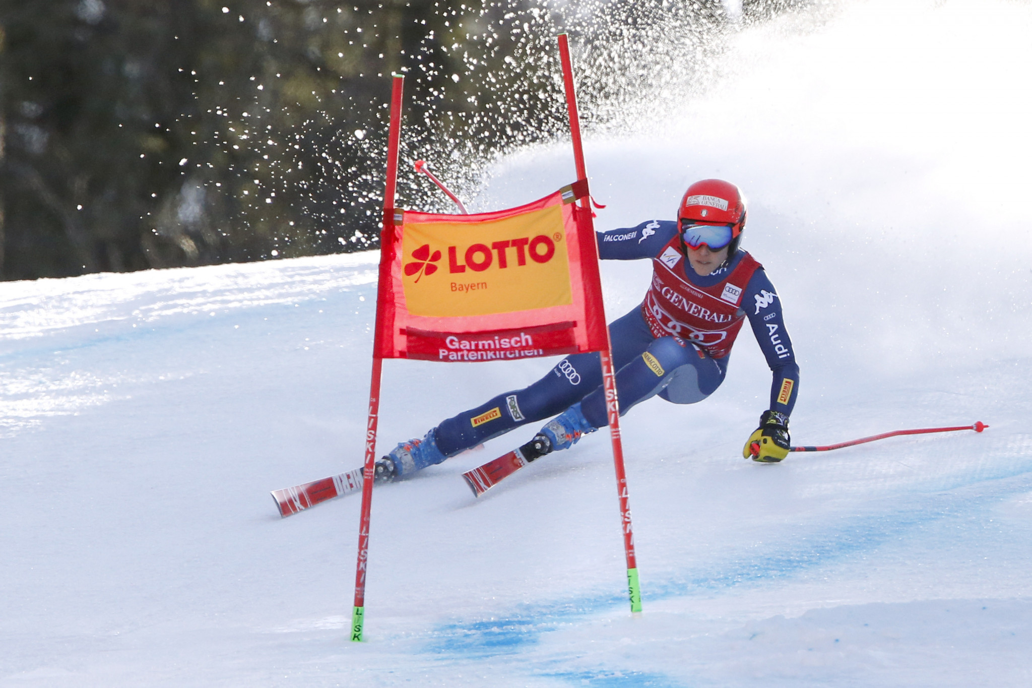 Federica Brignone of Italy slipped down to second in the Super-G seconds after a fifth place finish in Garmisch-Partenkirchen ©Getty Images