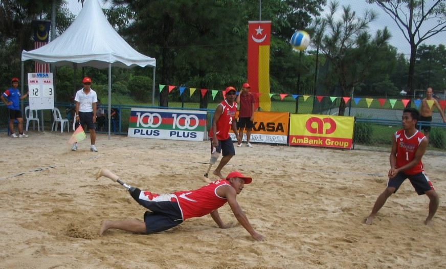 Beach ParaVolley is a three-aside sport ©Wikipedia
