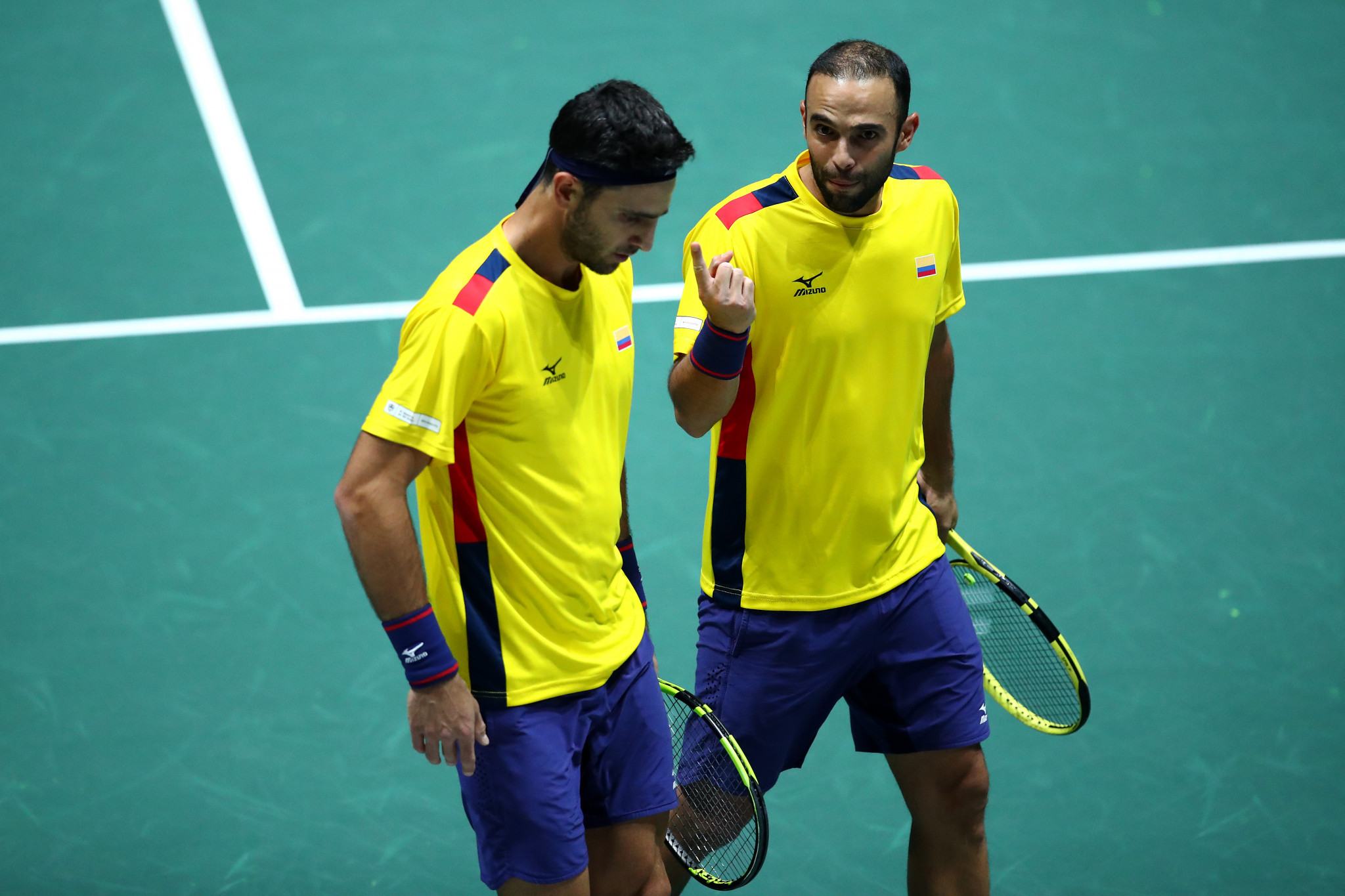 Robert Farah, left, and doubles partner Juan Sebastián Cabal won two Grand Slams in 2019 ©Getty Images