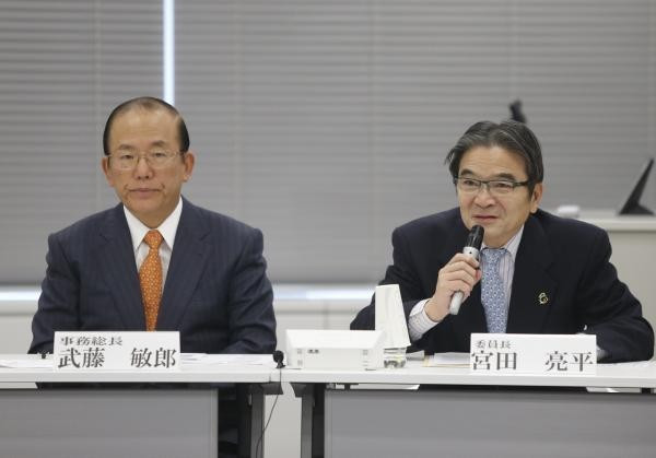 Tokyo 2020 Emblems Selection Committee chairman Ryohei Miyata was delighted with the amount of entries ©Tokyo 2020