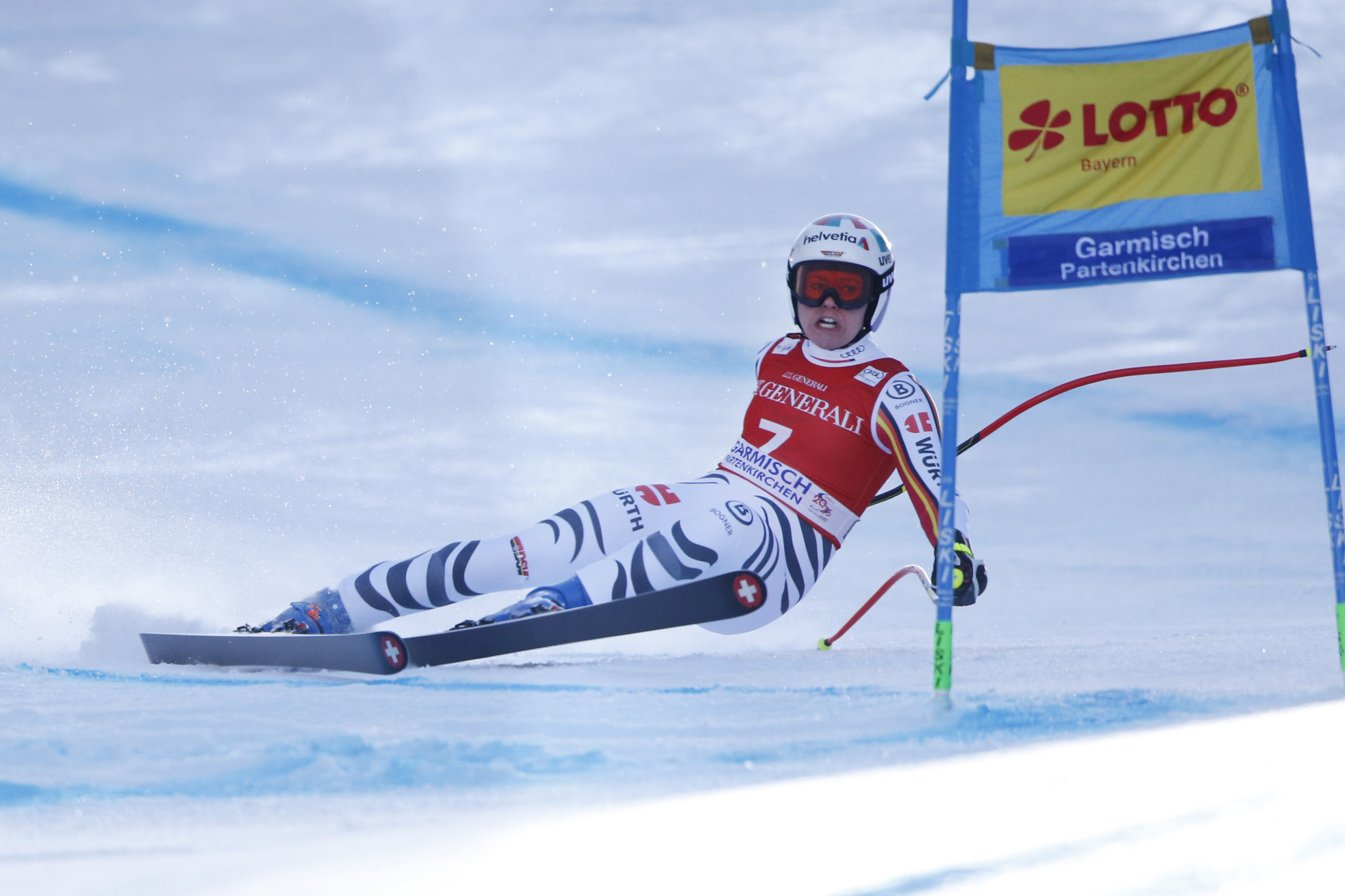 A fractured tibia has brought a premature end to Viktoria Rebensburg's season ©Getty Images