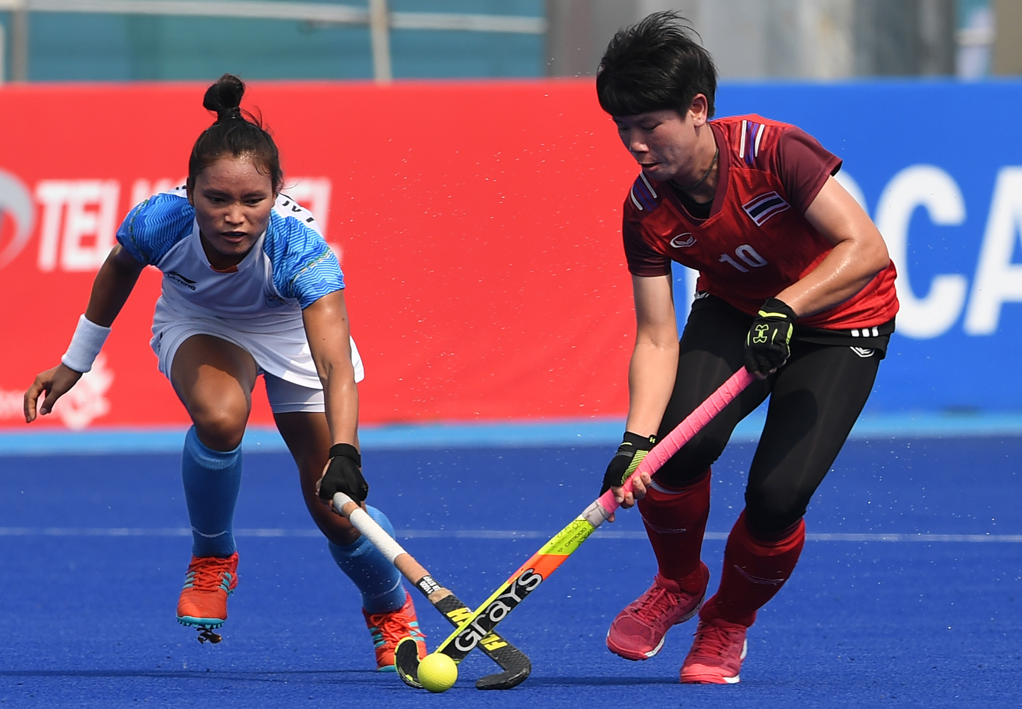 Lalremsiami, left, has also been with the senior team since she was 17 and played through the death of her father to secure Olympic qualification ©Getty Images