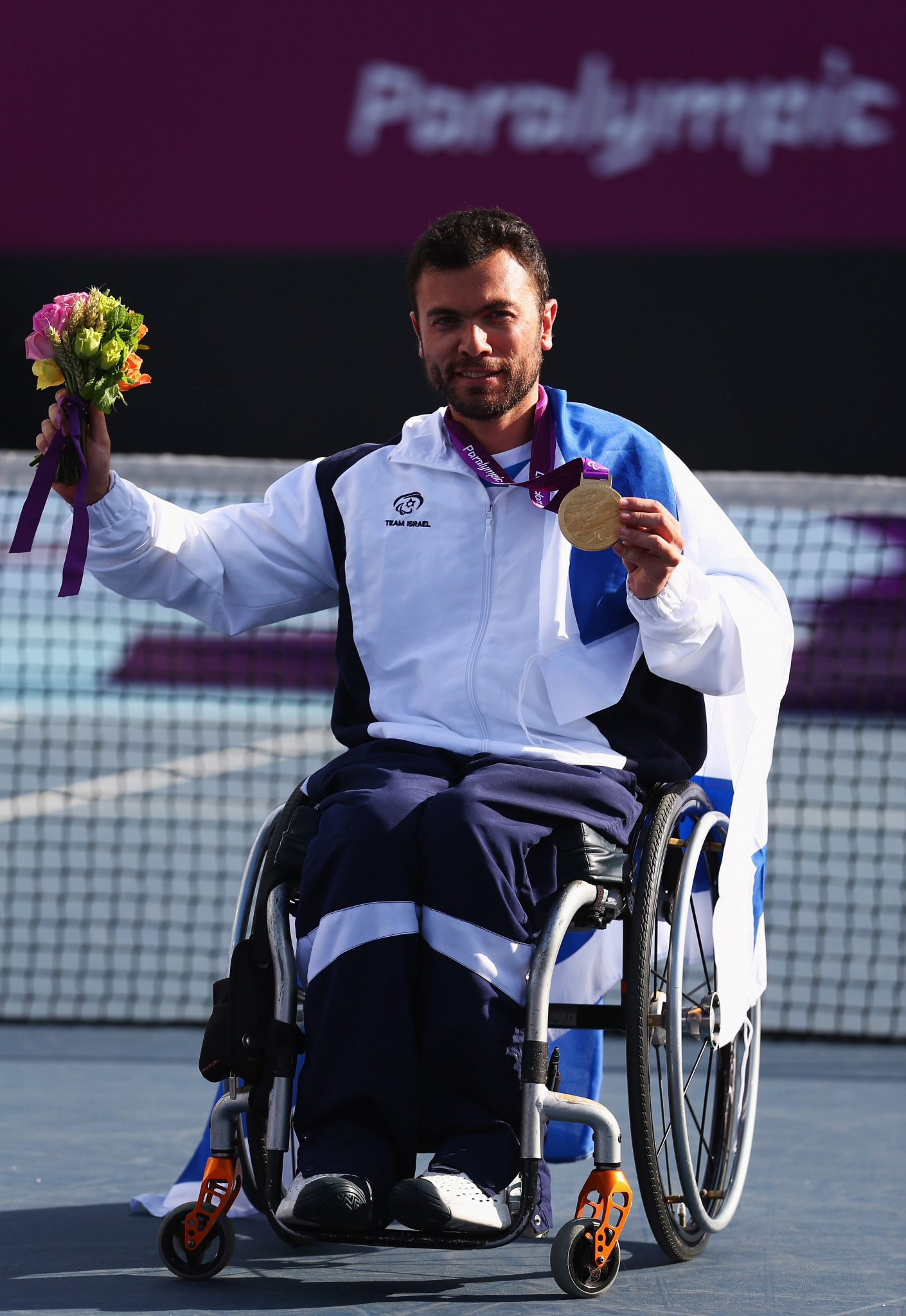 Israel's last Paralympic gold medal came in 2012 when Noam Gershony took gold in the quad tennis ©Getty Images