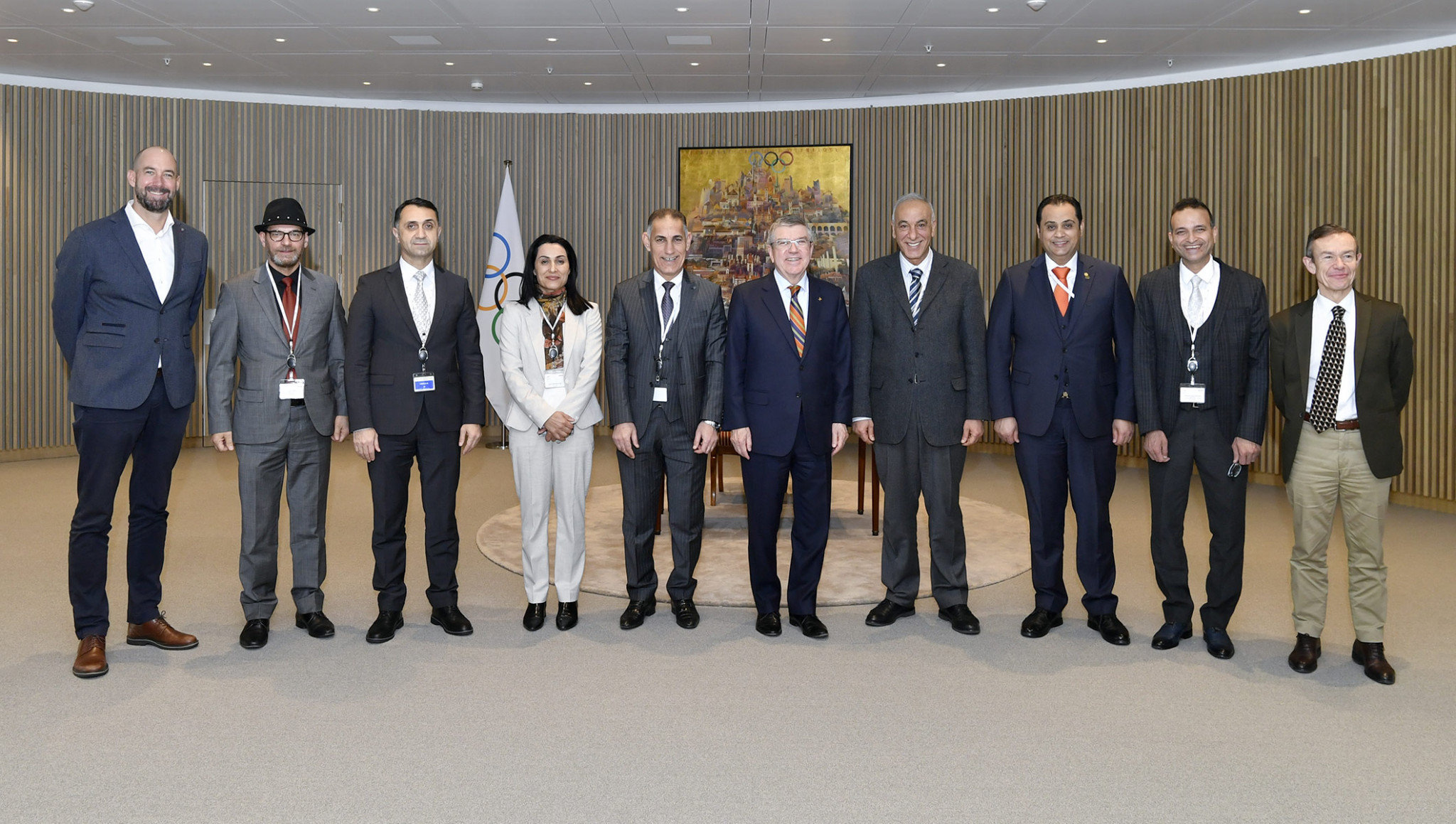 National Olympic Committee of Iraq delegation visits IOC headquarters