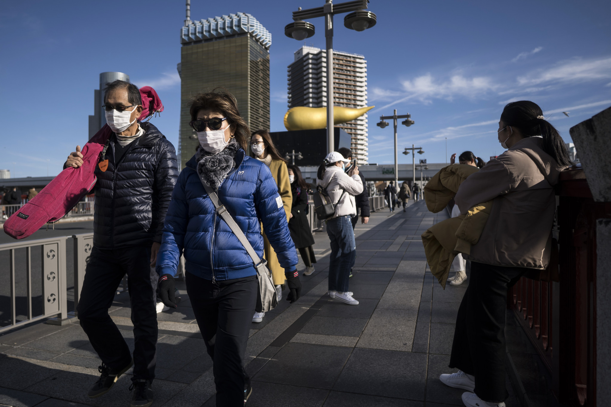 Surgical masks will be distributed to runners and volunteers, upon request, at next month's Tokyo Marathon as part of preventive safety measures against coronavirus ©Getty Images