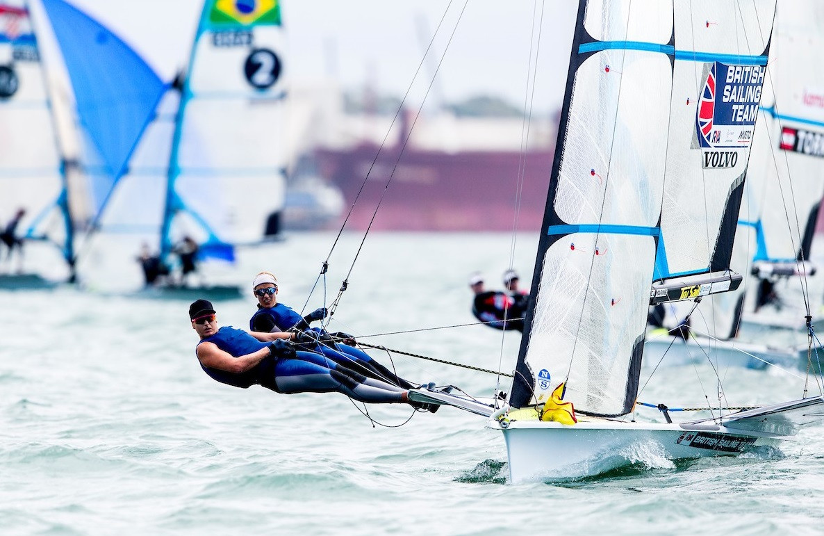 Charlotte Dobson and Saskia Tidey are the new leaders in the 49erFX ©Sailing Energy