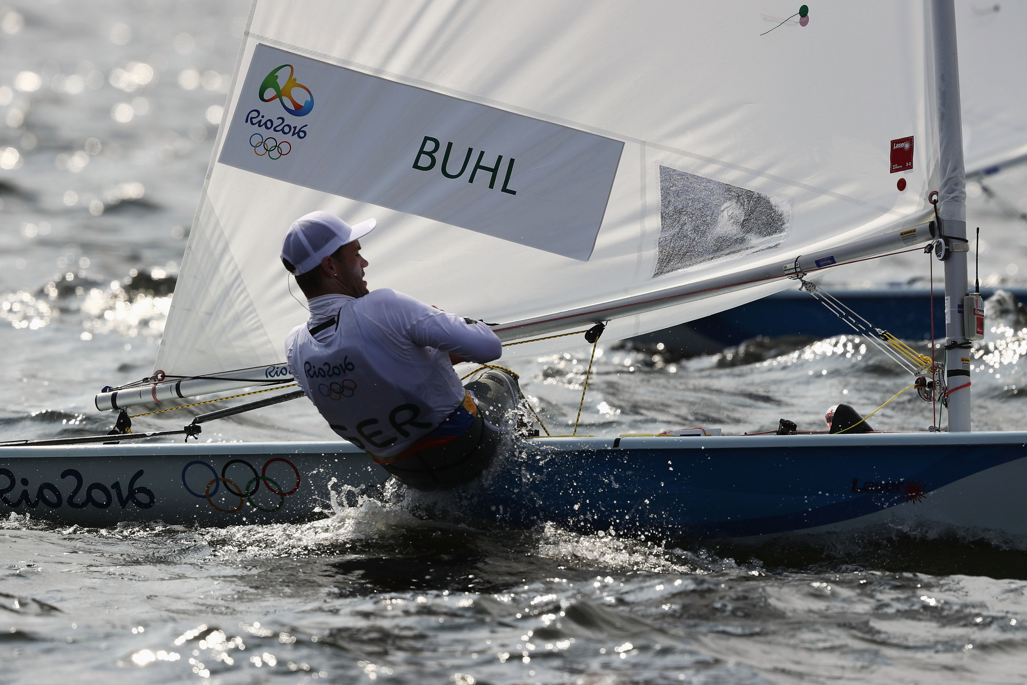 Philipp Buhl grabbed a share of the lead at the Laser Standard World Championships ©Getty Images