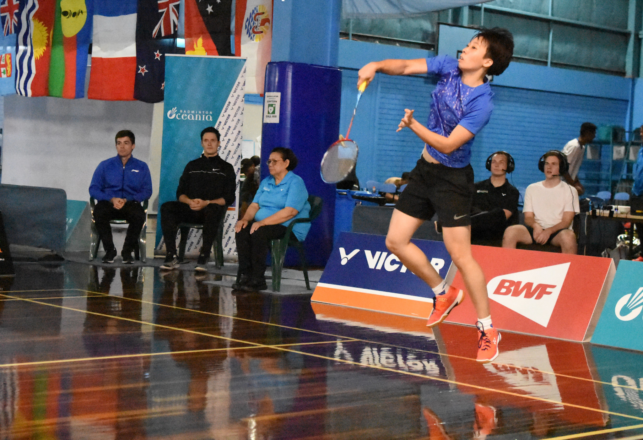 Wendy Chen Hsuan-yu won the women's singles title at the Oceania Badminton Championships for the sixth year in a row ©Ballarat Badminton