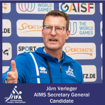 IFA President Verleger stands as candidate for AIMS secretary general