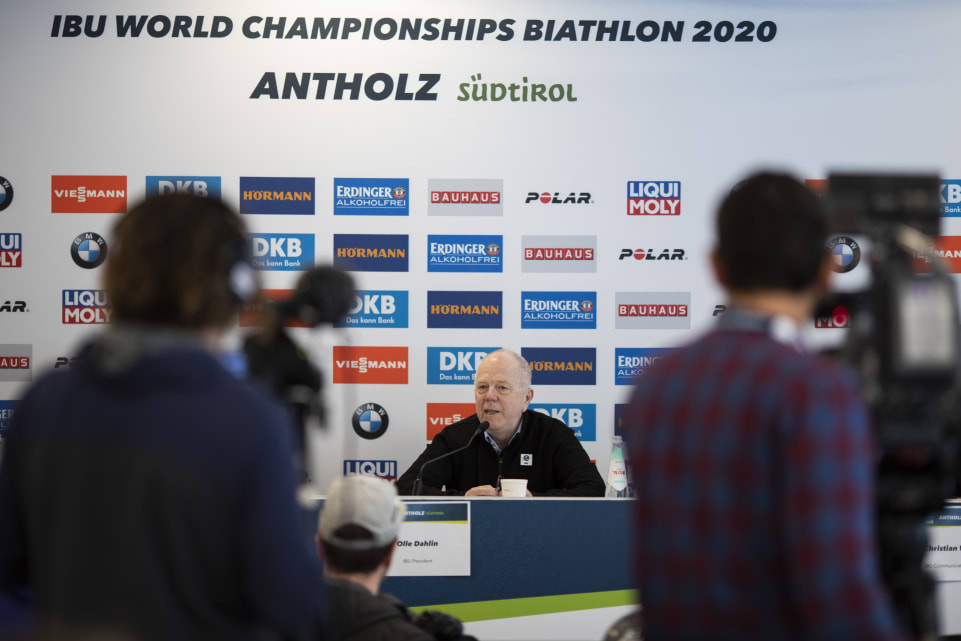 "IBU President predicts ""unforgettable"" World Championships in Antholz"