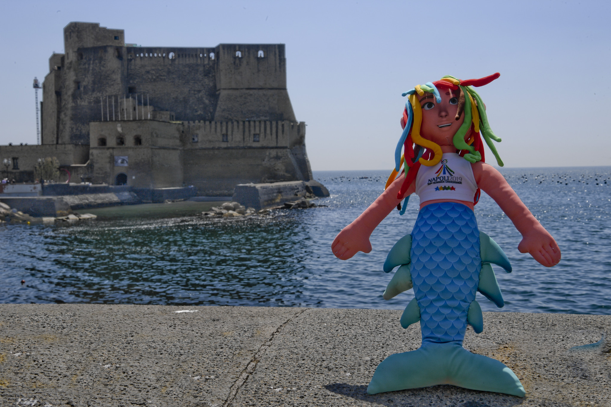 Partenope was the mascot for the 2019 event in Naples ©Naples 2019