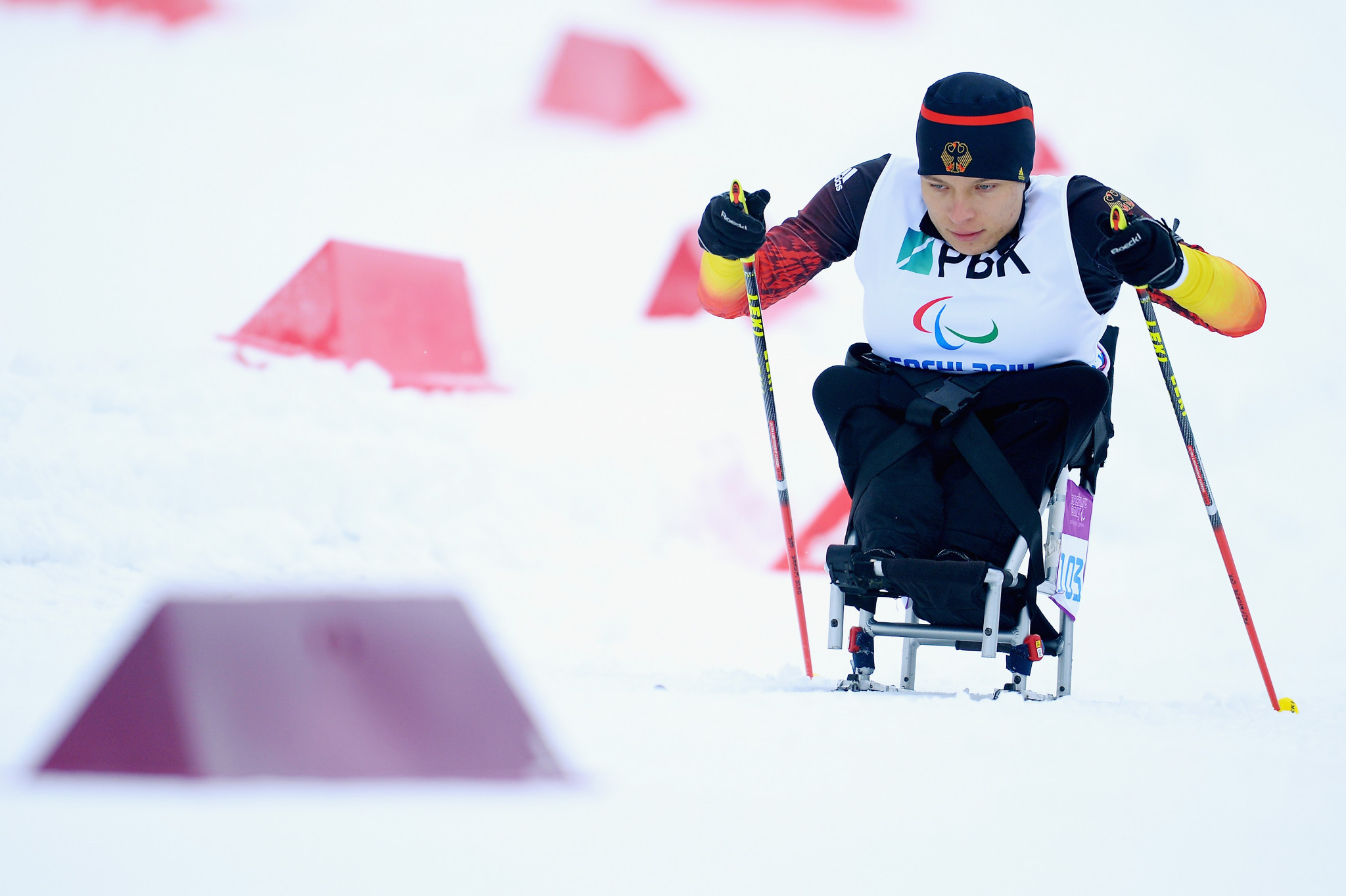 Anja Wicker has won the IPC Athlete of the Month award ©Getty Images