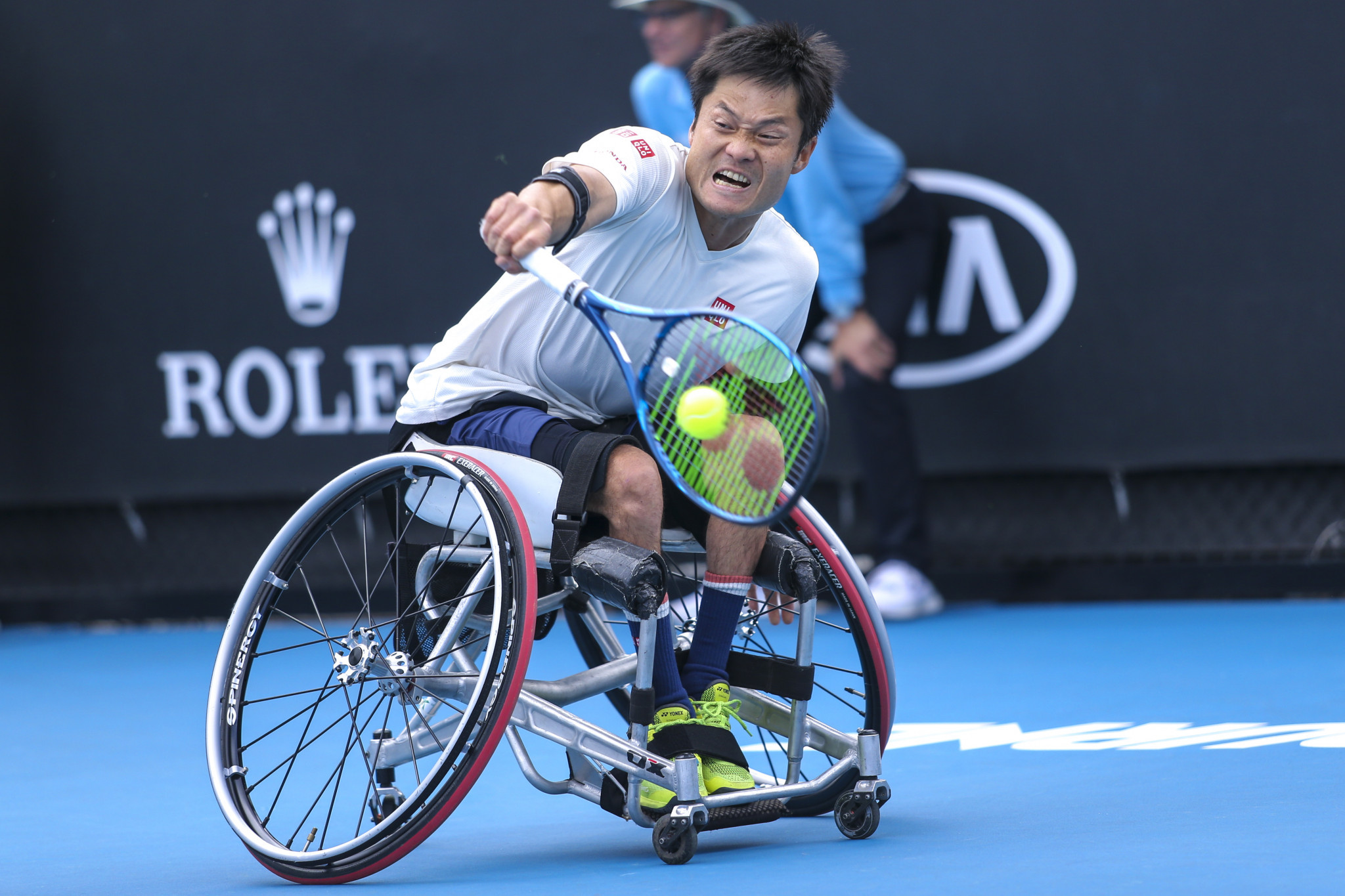 Japan's wheelchair tennis star Shingo Kunieda placed second in the public vote ©Getty Images
