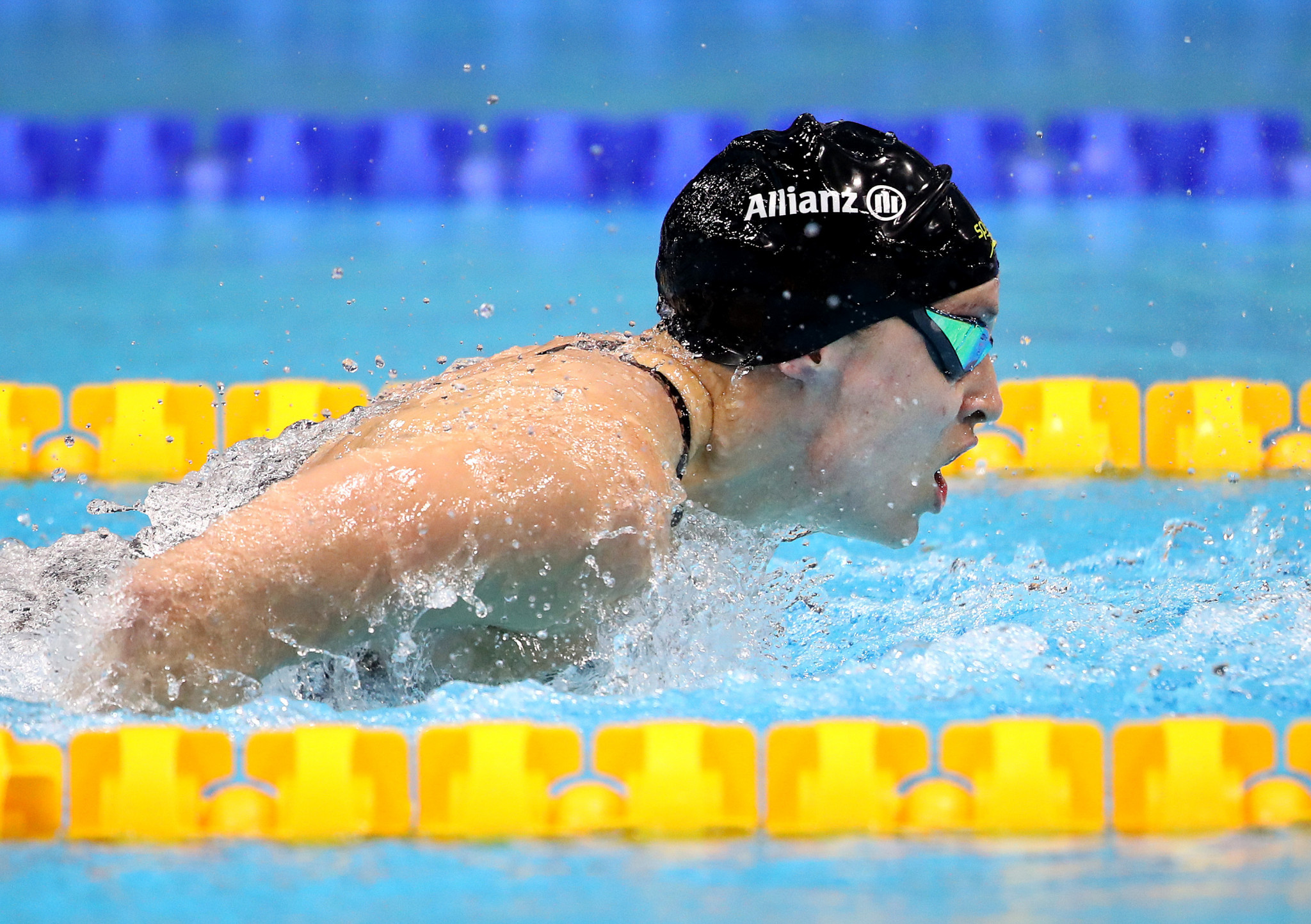 New Zealand's Sophie Pascoe took the narrowest win of the day with just two points separating her and her rival, Australia's Tiffany Thomas Kane, at the World Para Swimming Series in Melbourne ©Getty Images