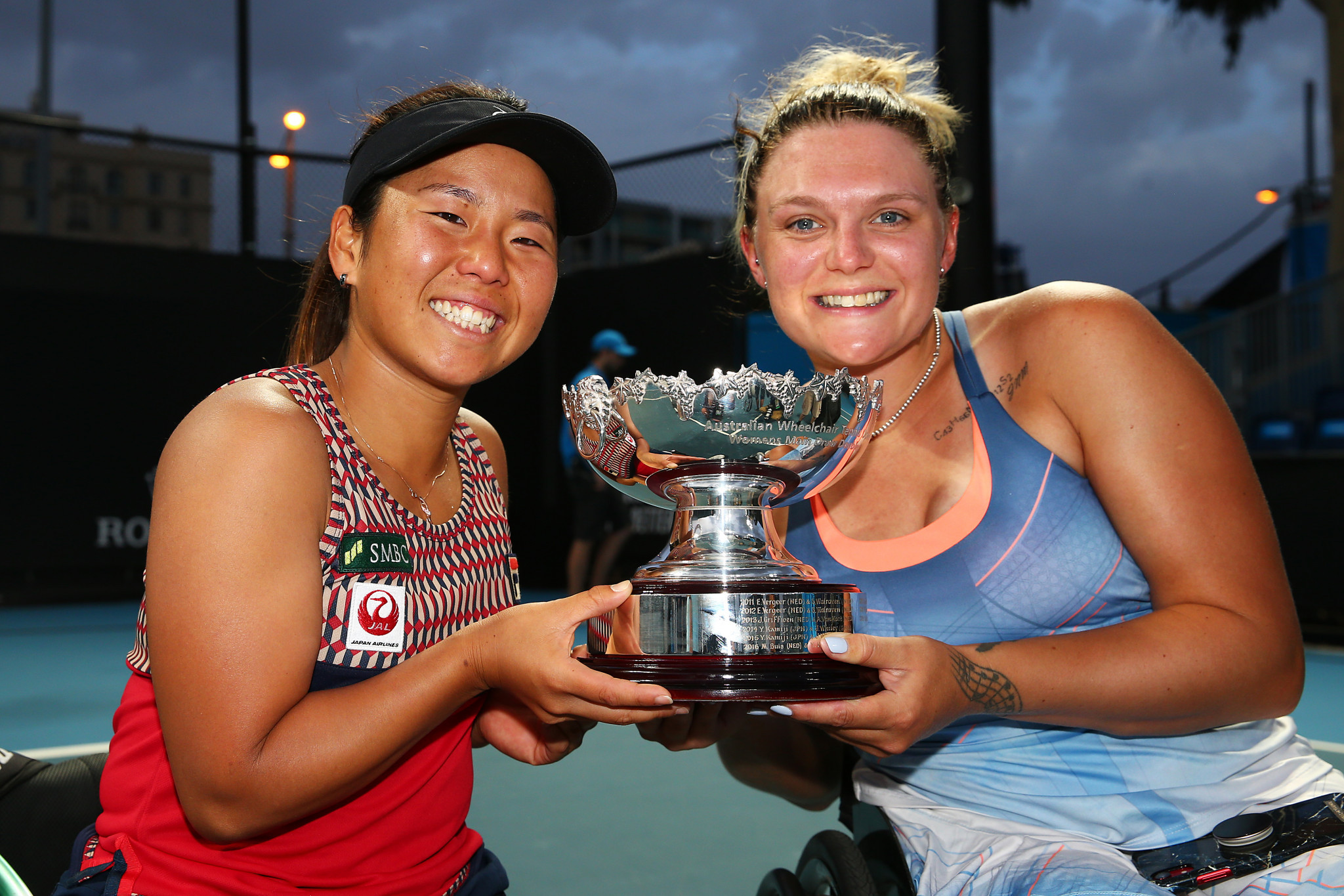Whiley started 2020 well with an Australian Open doubles win with Japan's Yui Kamiji ©Getty Images